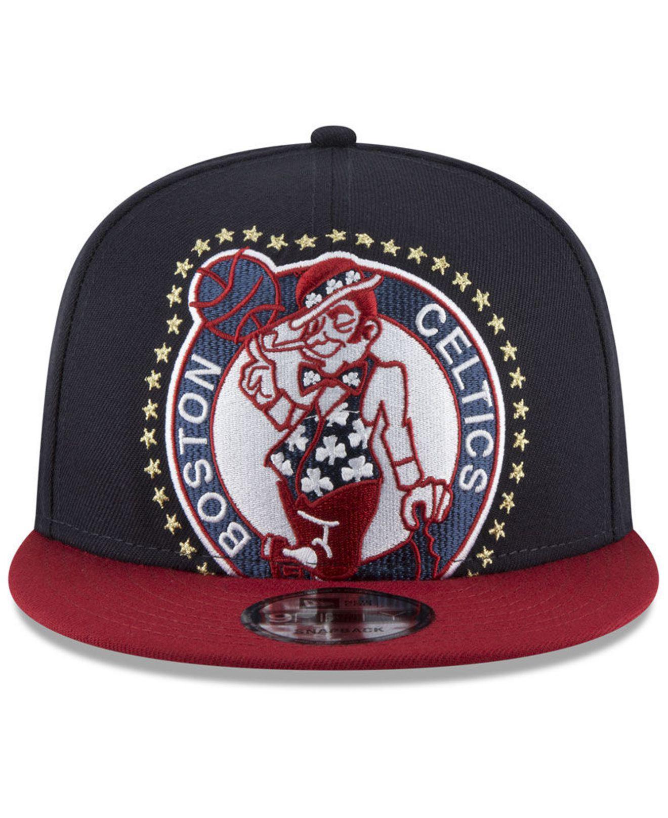 huge discount f4c39 0cd18 Lyst - KTZ Boston Celtics Xl Americana 9fifty Snapback Cap in Blue ...