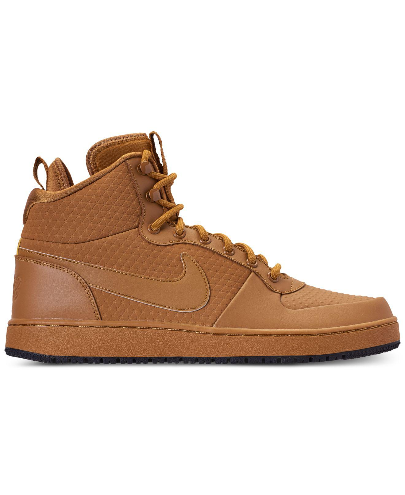Lyst - Nike Ebernon Mid Winter Casual Sneakers From Finish Line in Brown  for Men - Save 16% 327158f08