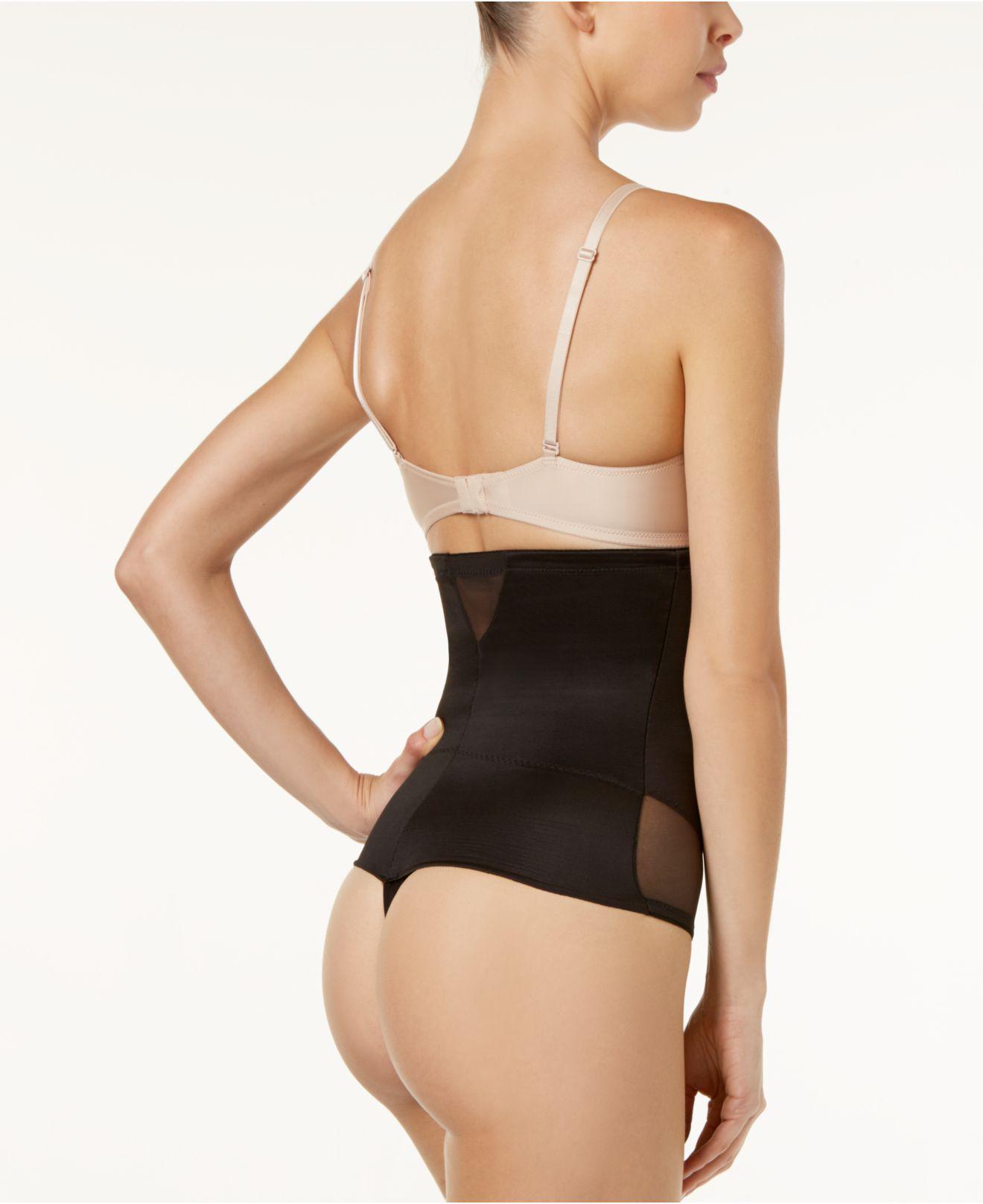 5fb65bfbbe5b2 Miraclesuit - Black Extra Firm Control High-waist Sheer Thong 2778 - Lyst.  View fullscreen