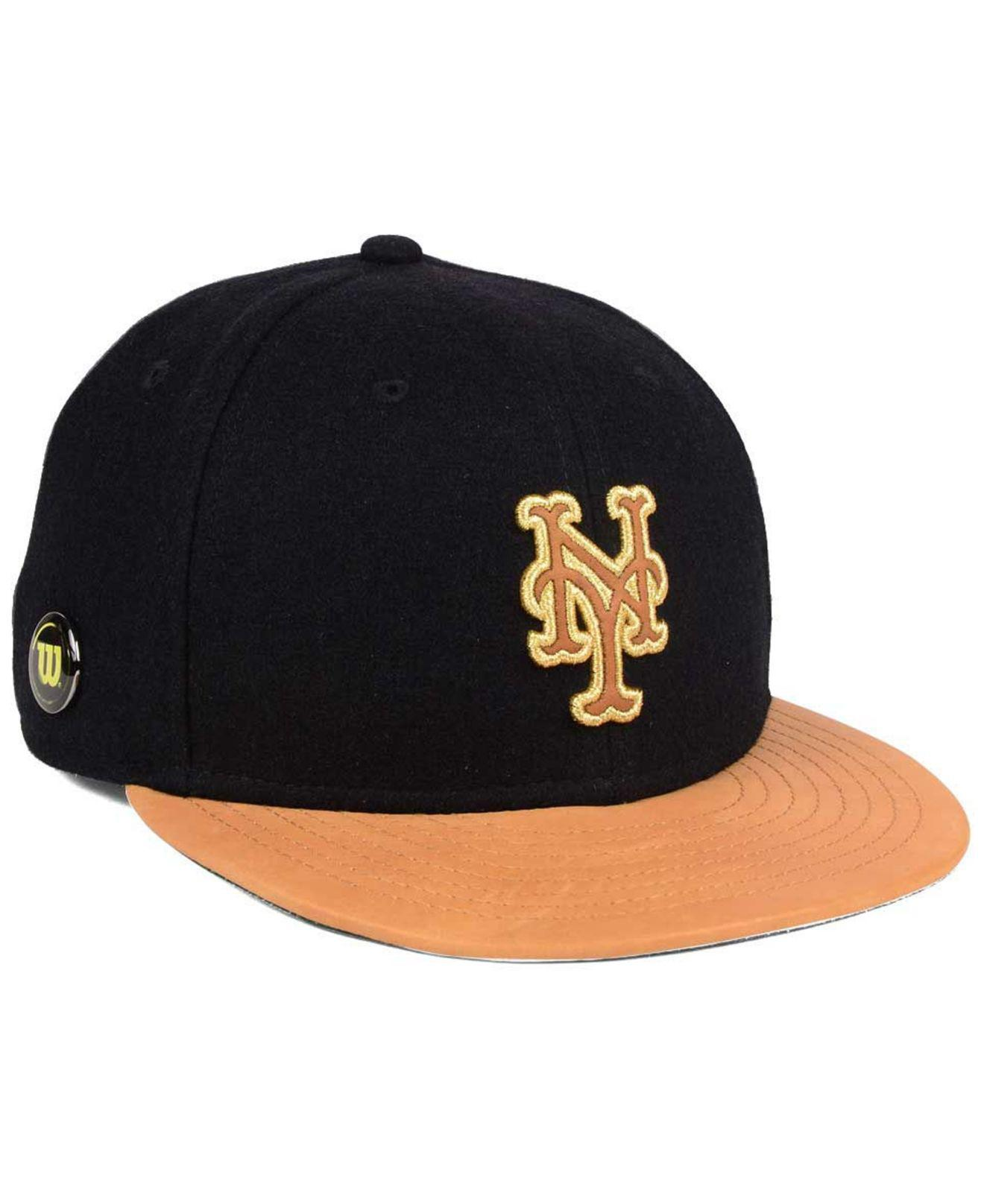 new products a1b20 6a37c ... 9fifty snapback cap 814a0 6abf3  where can i buy ktz. mens black new  york mets x wilson metallic 59fifty fitted
