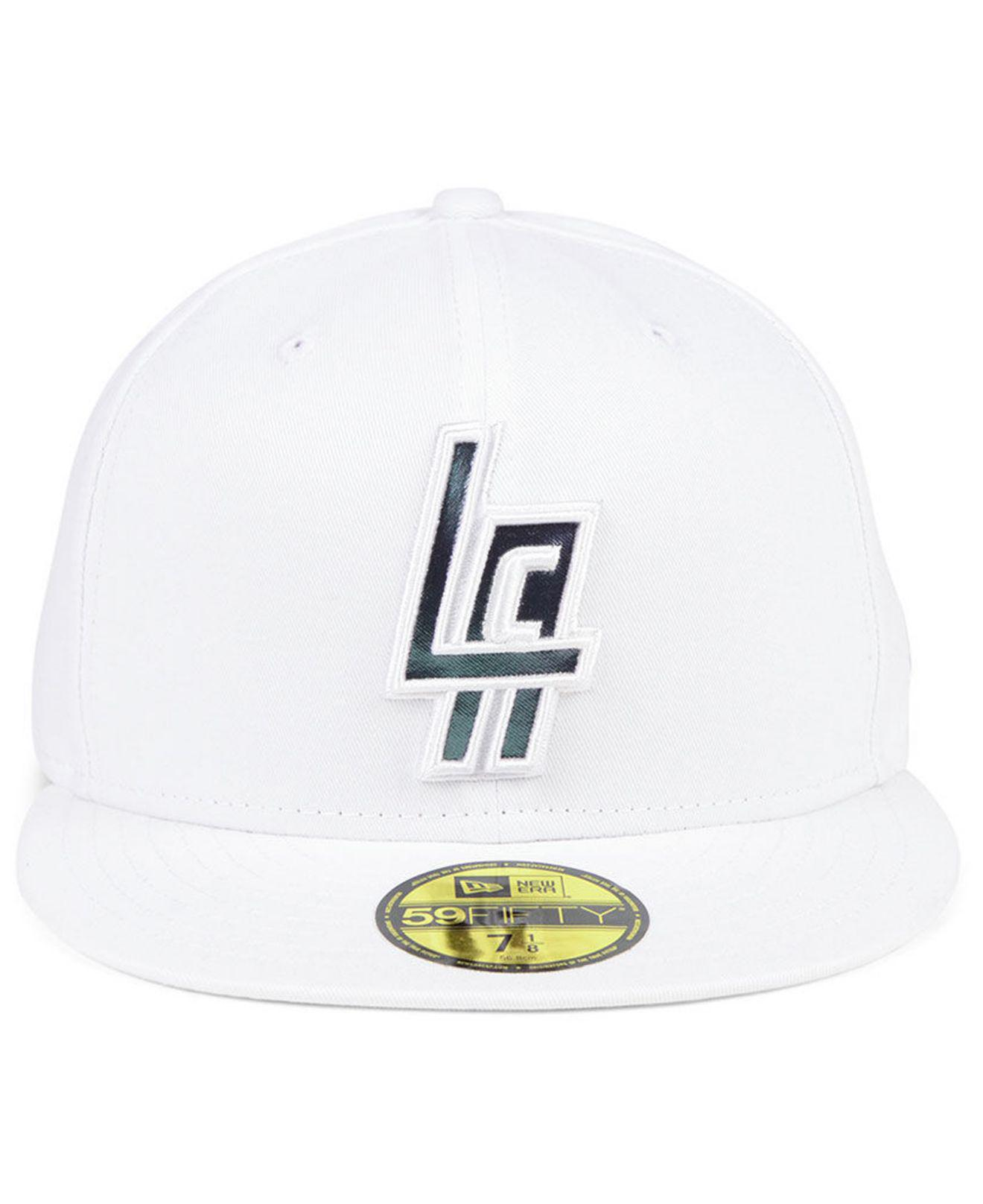 d2af6adfdca5b ... promo code for lyst ktz los angeles clippers iridescent combo 59fifty  fitted cap in white for