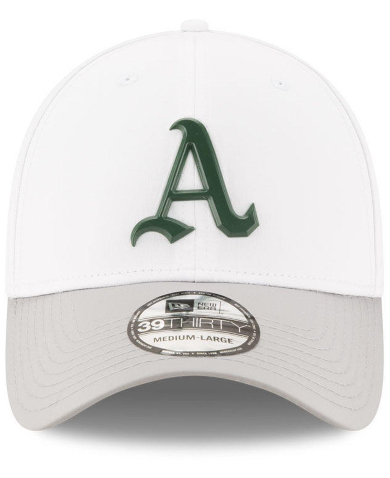 new product 07792 e4872 ... reduced lyst ktz oakland athletics white batting practice 39thirty cap  in white for men 34aa8 f16c9