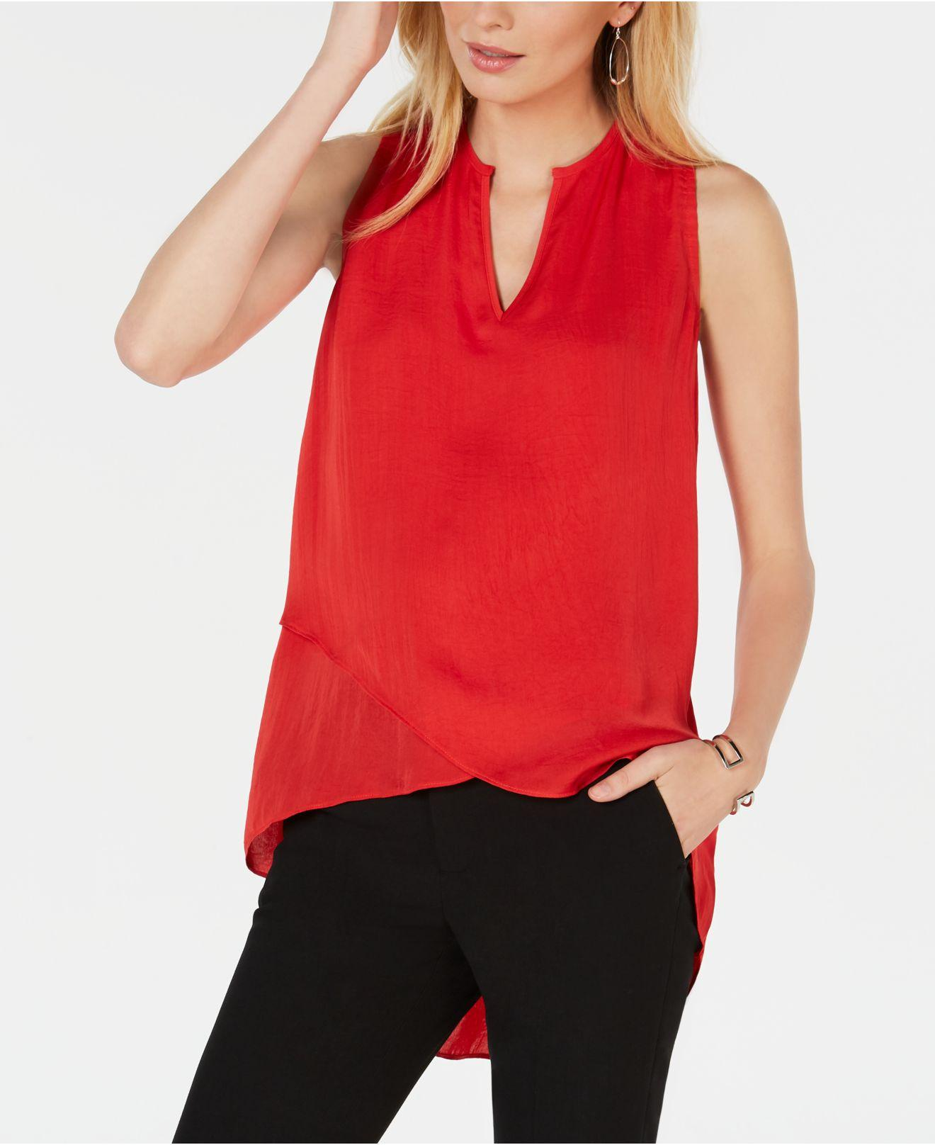 3a31beb5d Alfani. Women s Red High-low Crossover Top