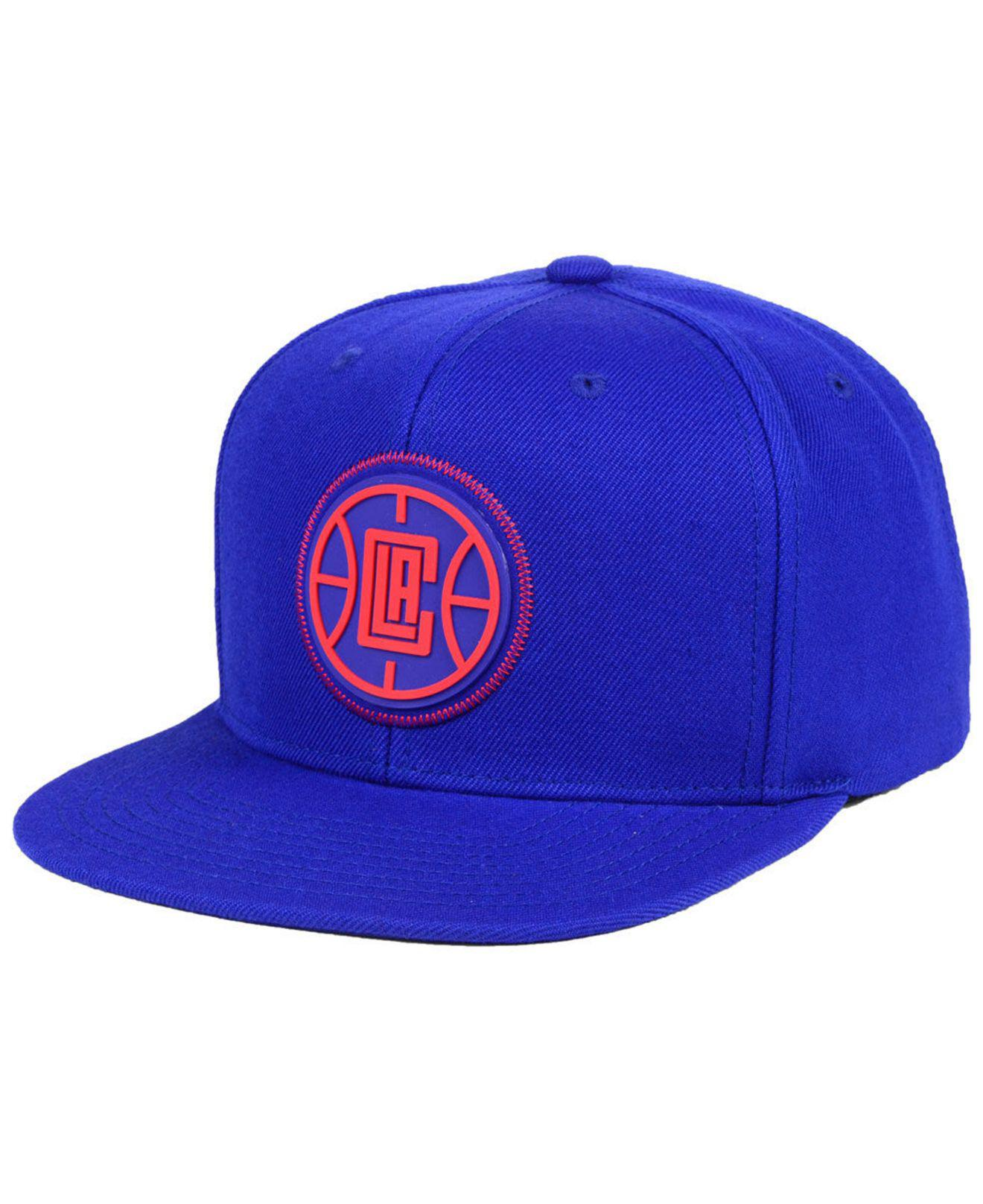 Lyst - Mitchell   Ness Los Angeles Clippers Zig Zag Snapback Cap in ... 251d67e31206