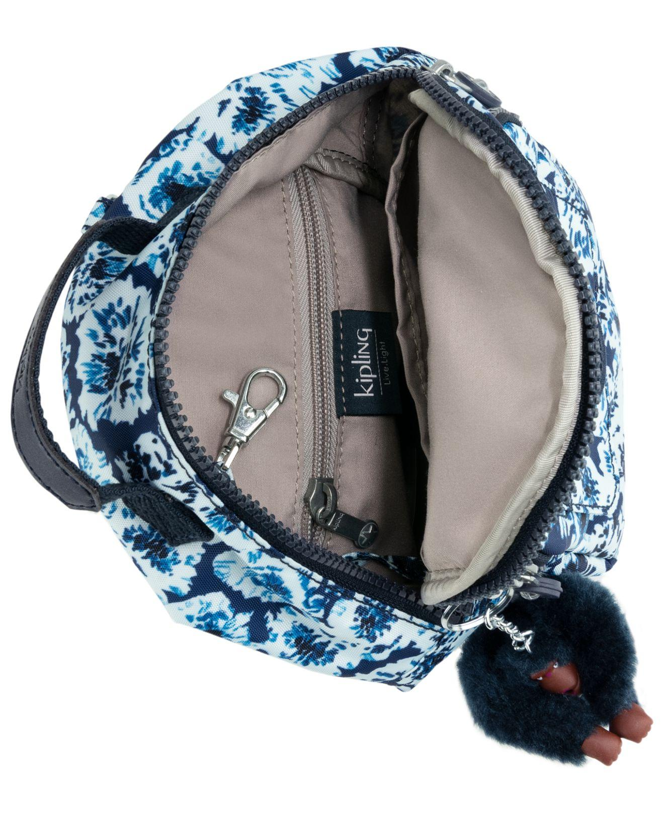 Lyst - Kipling Alber 3-in-1 Convertible Mini Bag Printed Backpack in Blue -  Save 41% a36324fcee30c