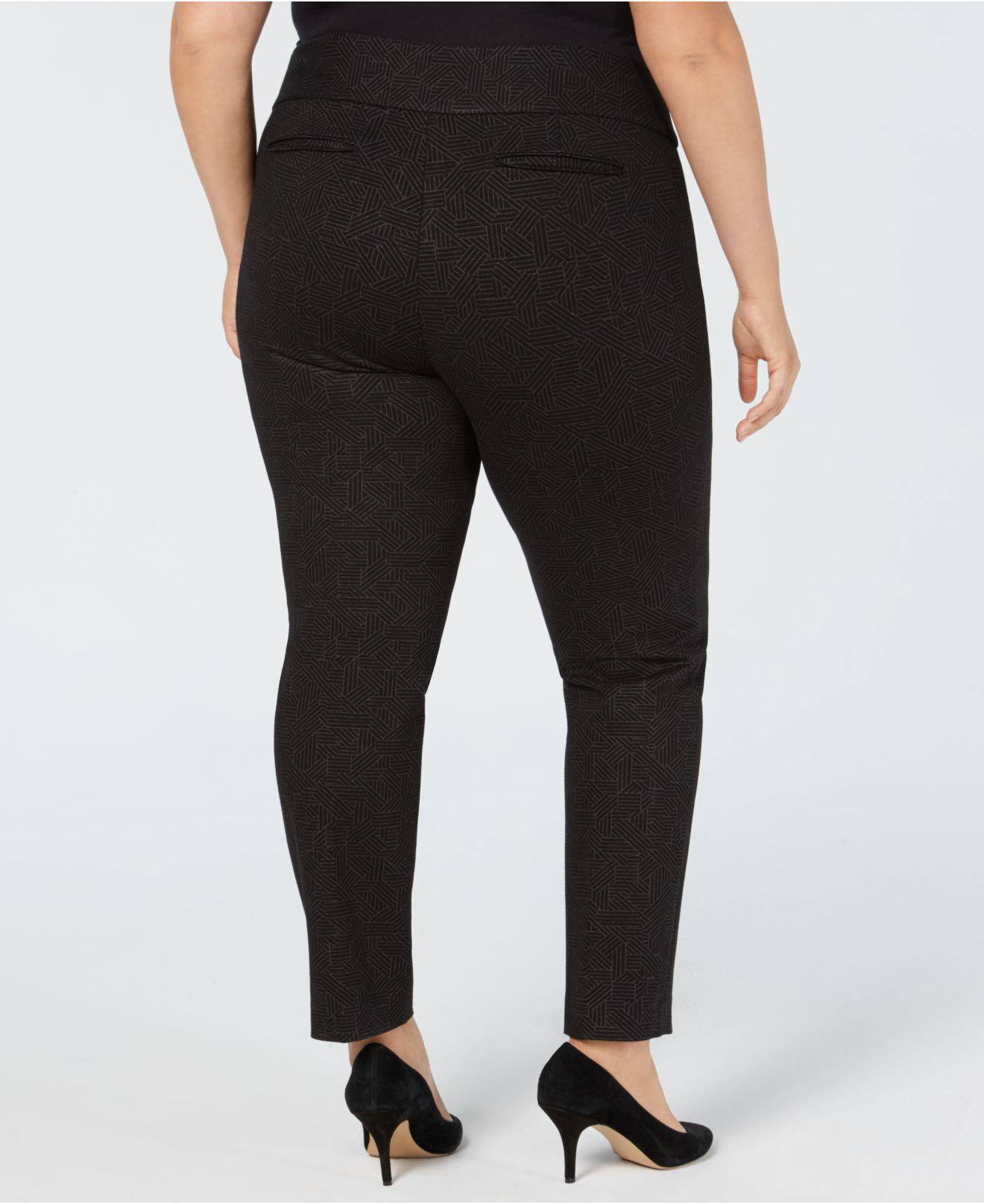 df3ca6739ed Lyst - Alfani Plus Size Foil-print Straight-leg Pants