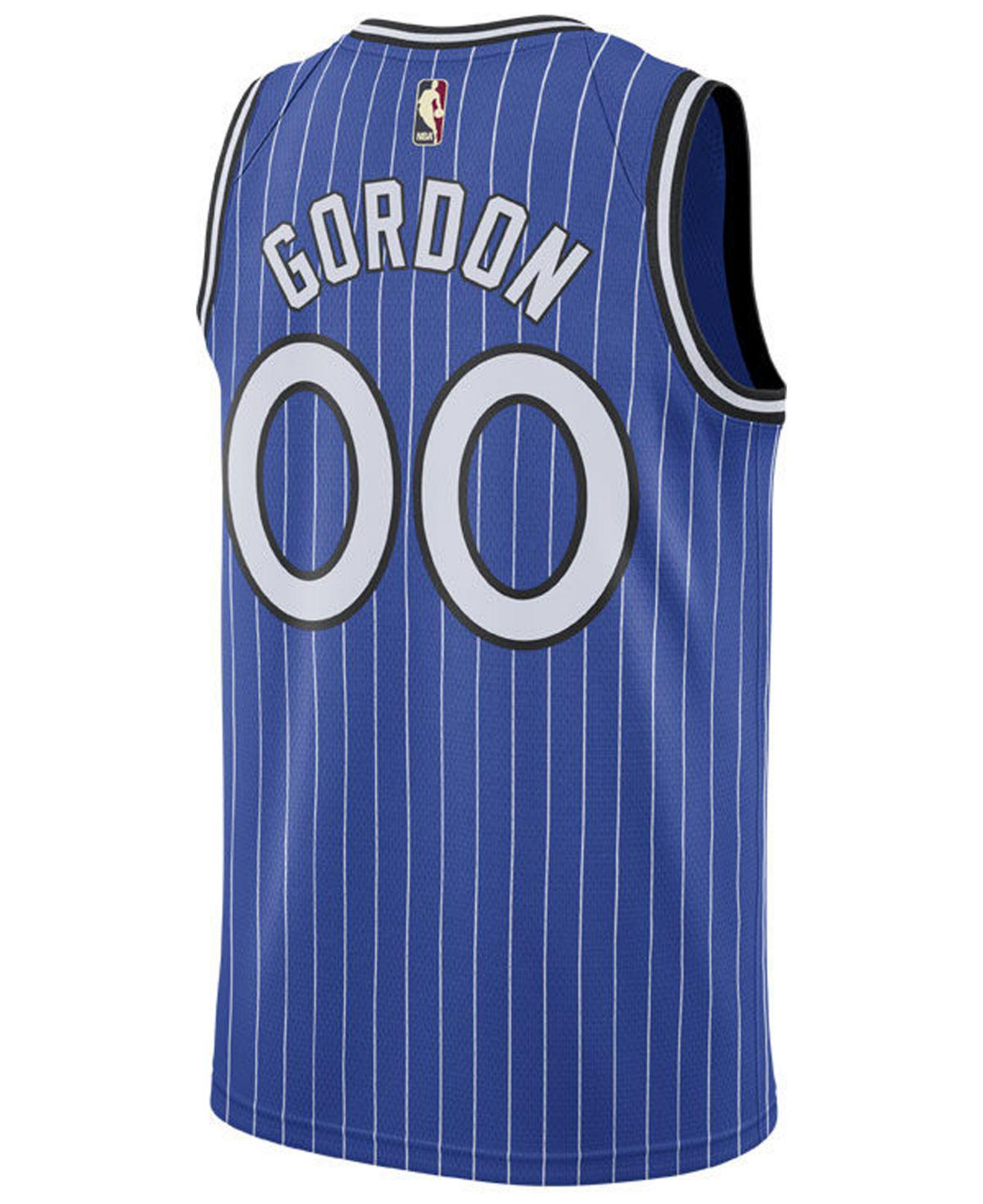 01f1447182d Nike. Men's Blue Aaron Gordon Orlando Magic Hardwood Classic Swingman Jersey