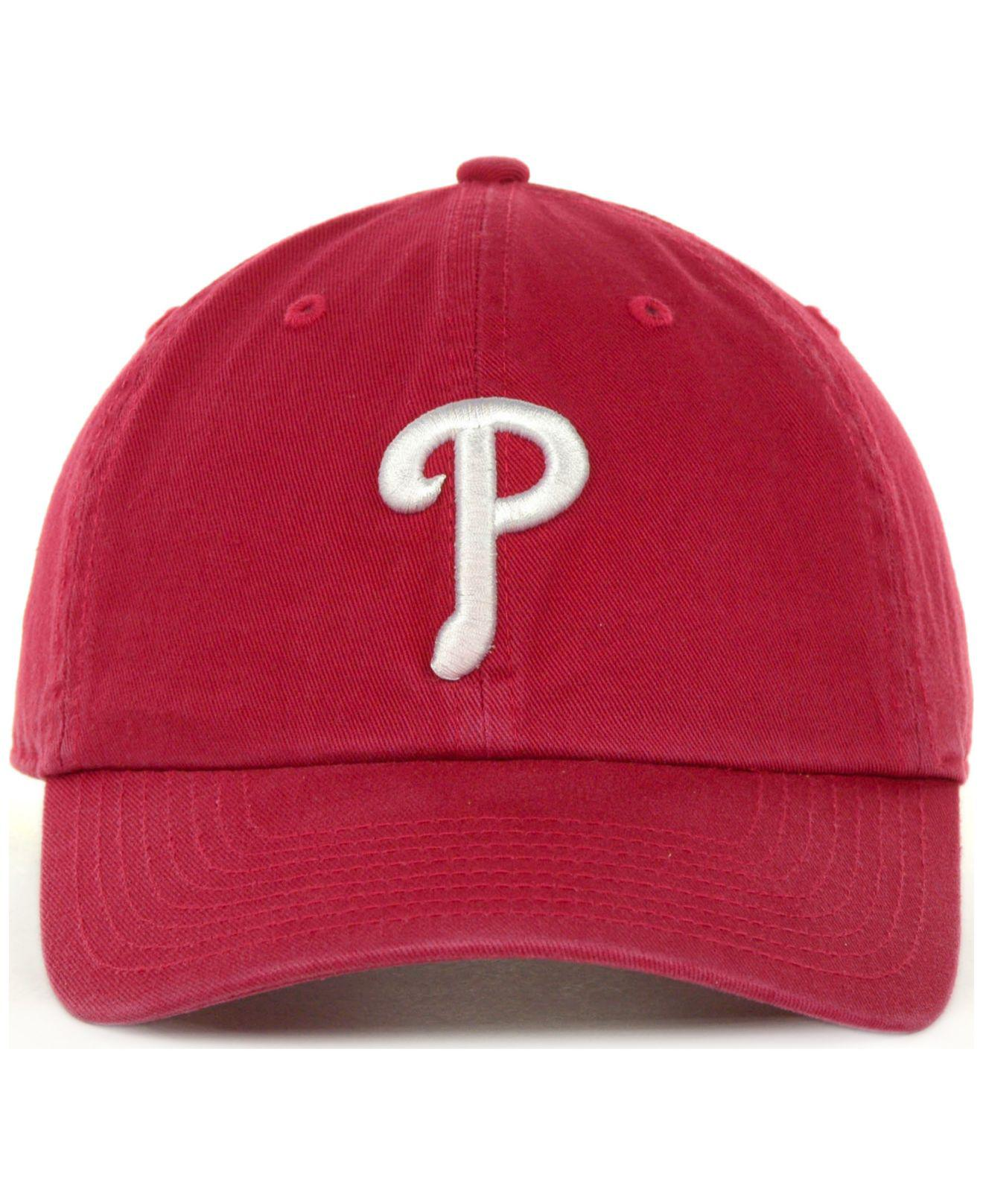 20bd281dd7b Lyst - 47 Brand Philadelphia Phillies Clean Up Hat in Red for Men