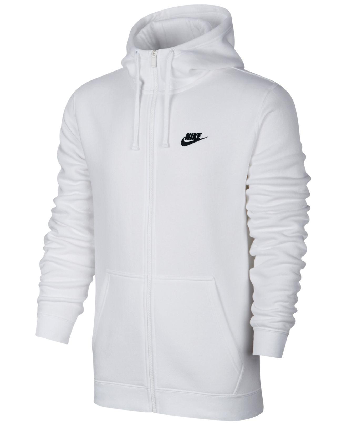 942b8b32b16 Nike - White Men s Sportswear Zip Hoodie for Men - Lyst. View fullscreen