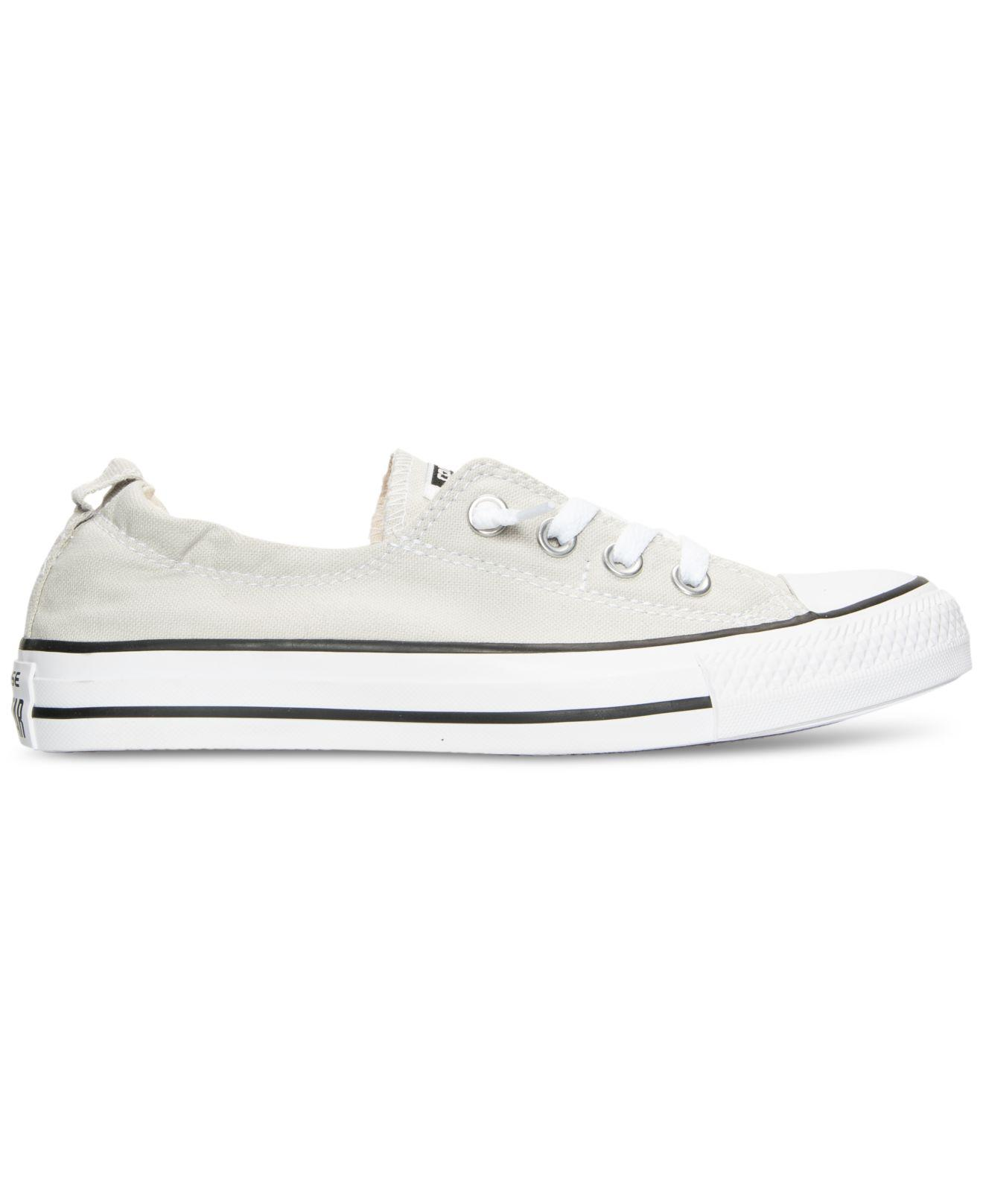 0a179e9d3c7 Lyst - Converse Women s Chuck Taylor Shoreline Casual Sneakers From Finish  Line in White
