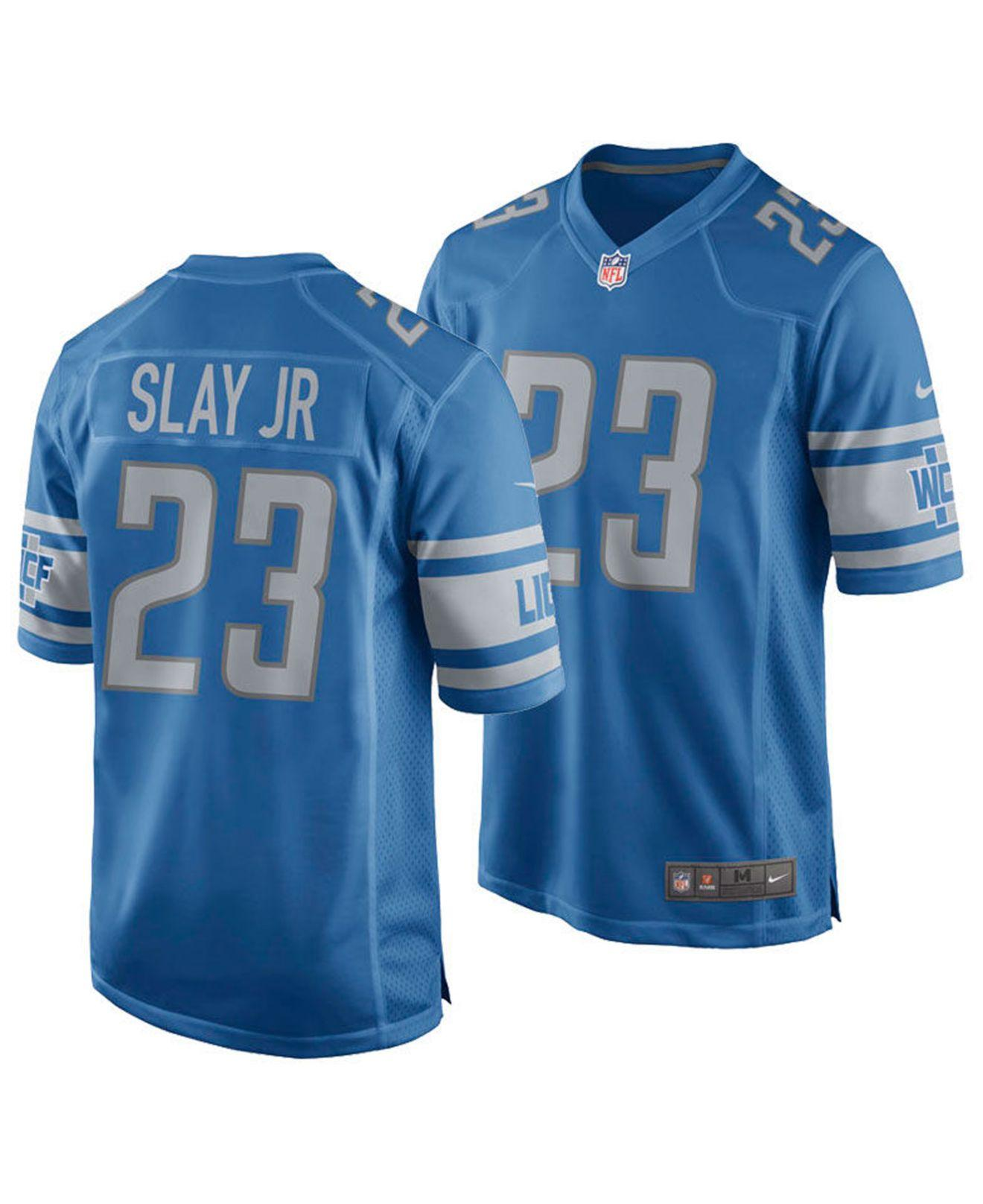 Nike - Blue Darius Slay Jr. Detroit Lions Game Jersey for Men - Lyst. View  fullscreen bd4941a59