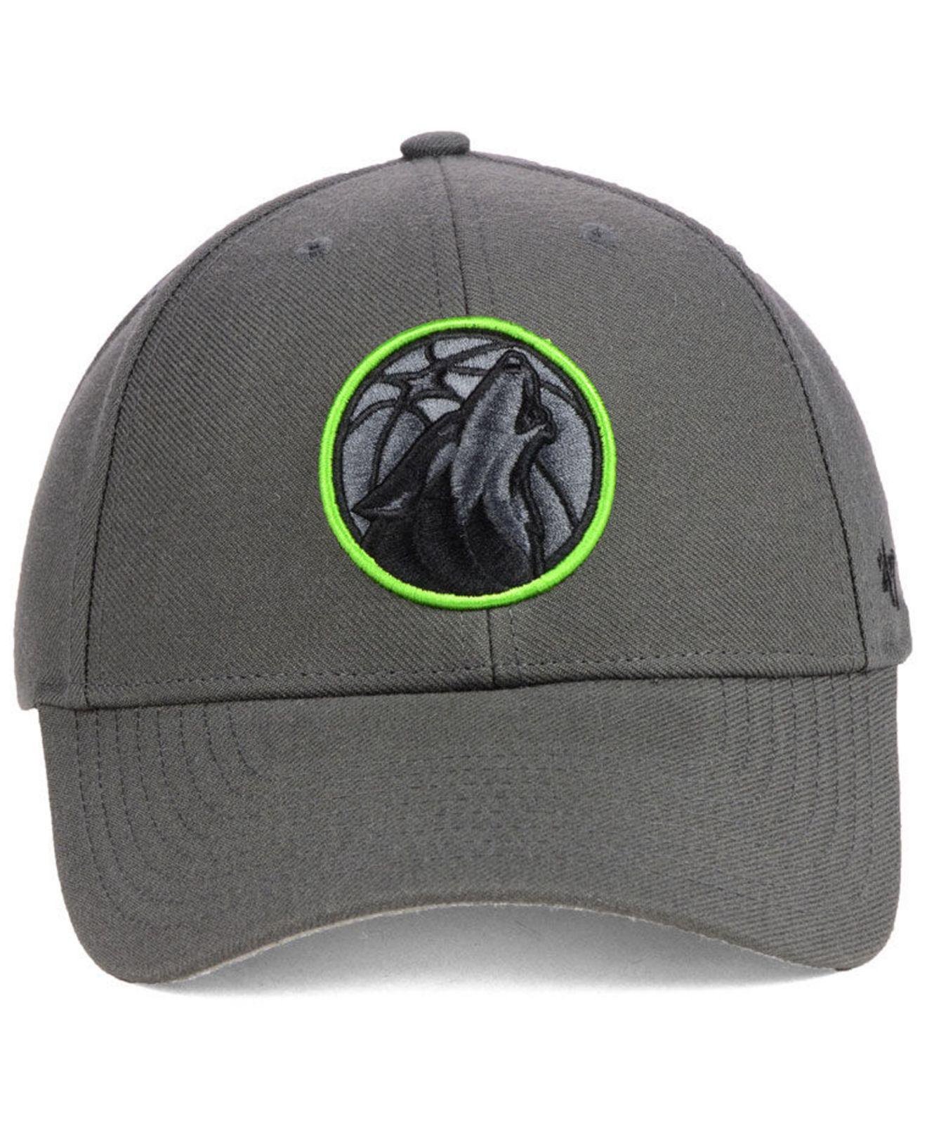 best cheap 7c416 9893e ... purchase lyst 47 brand minnesota timberwolves charcoal pop mvp cap in  gray for men 2db37 a2b48