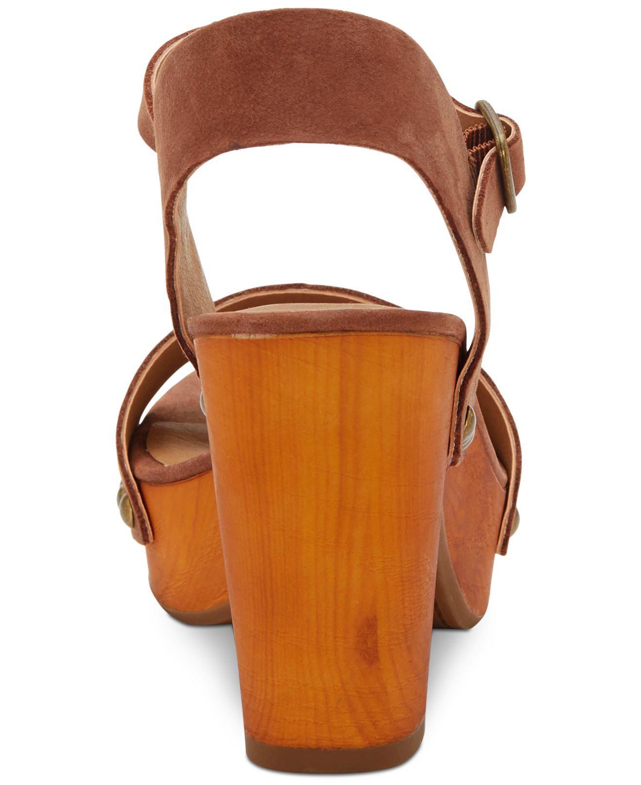 4cfc4271d36 Lucky Brand - Brown Trisa Wooden Sandals - Lyst. View fullscreen