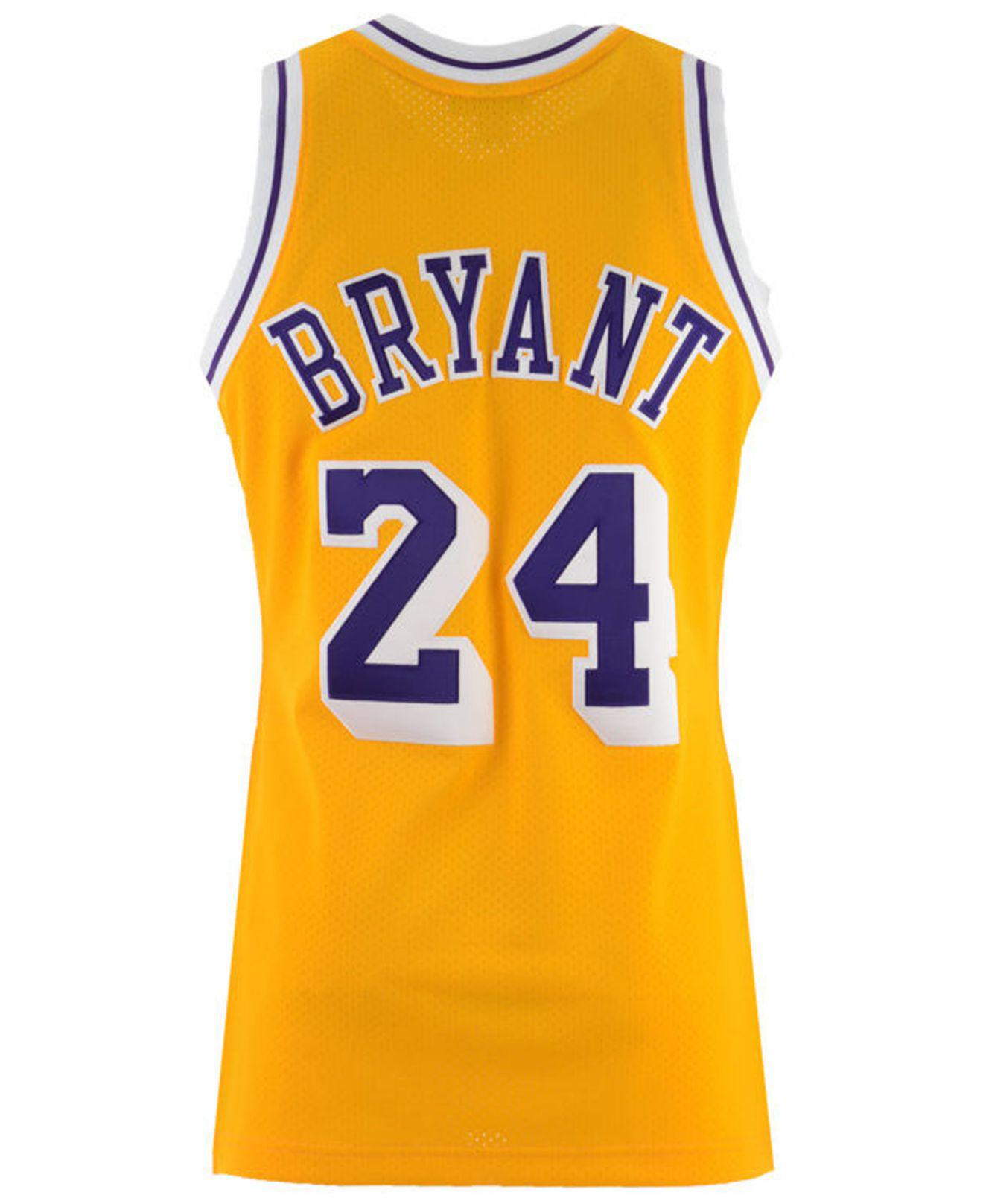 a064a3f1b Mitchell   Ness. Men s Metallic Kobe Bryant Los Angeles Lakers Authentic  Jersey