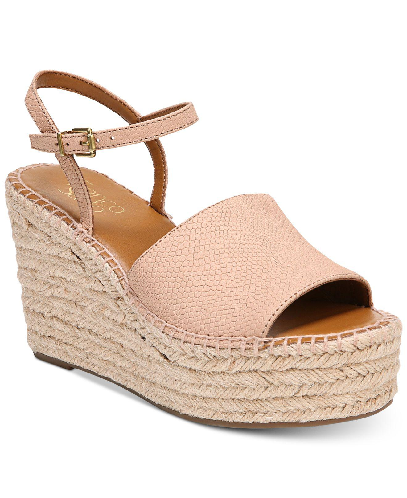 Franco Sarto Tula Platform Espadrille Wedge Sandals Women's Shoes AD33lD1gq