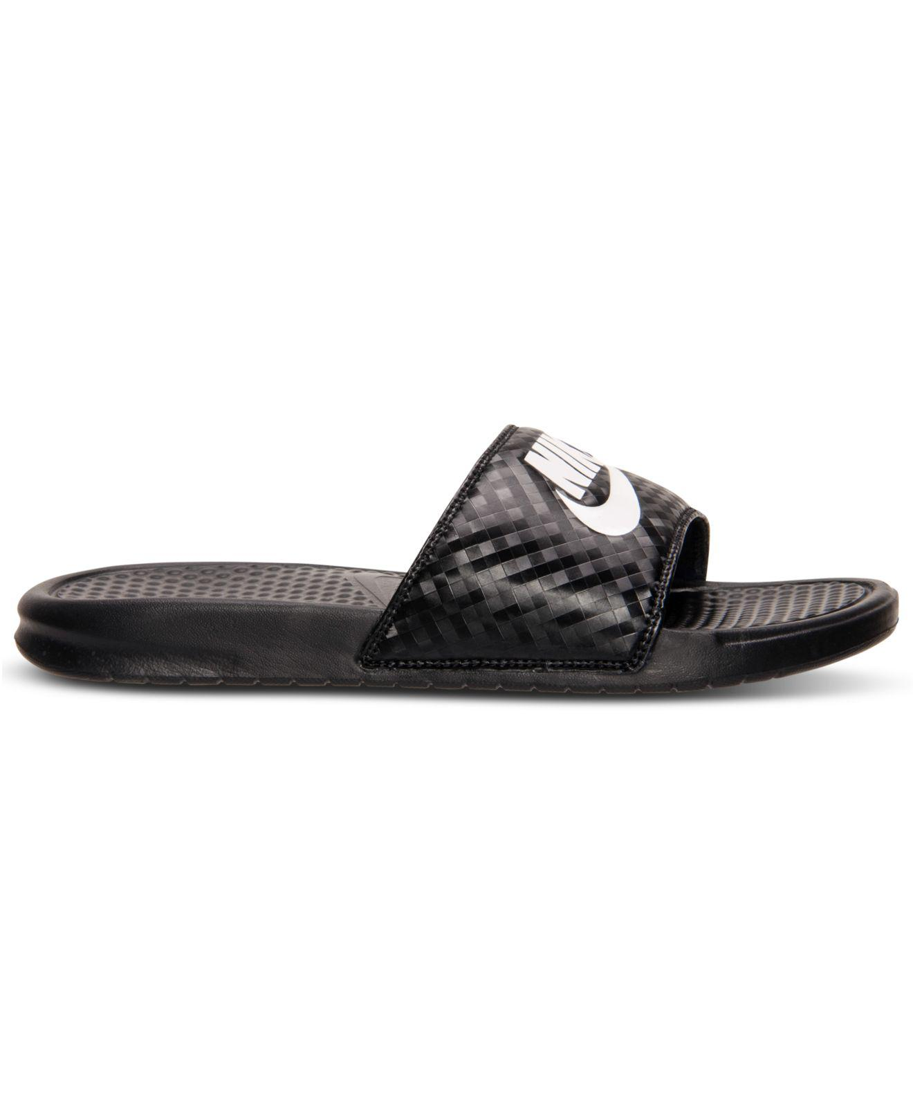 2e1172a5e Lyst - Nike Women s Benassi Jdi Swoosh Slide Sandals From Finish Line in  Black - Save 17%
