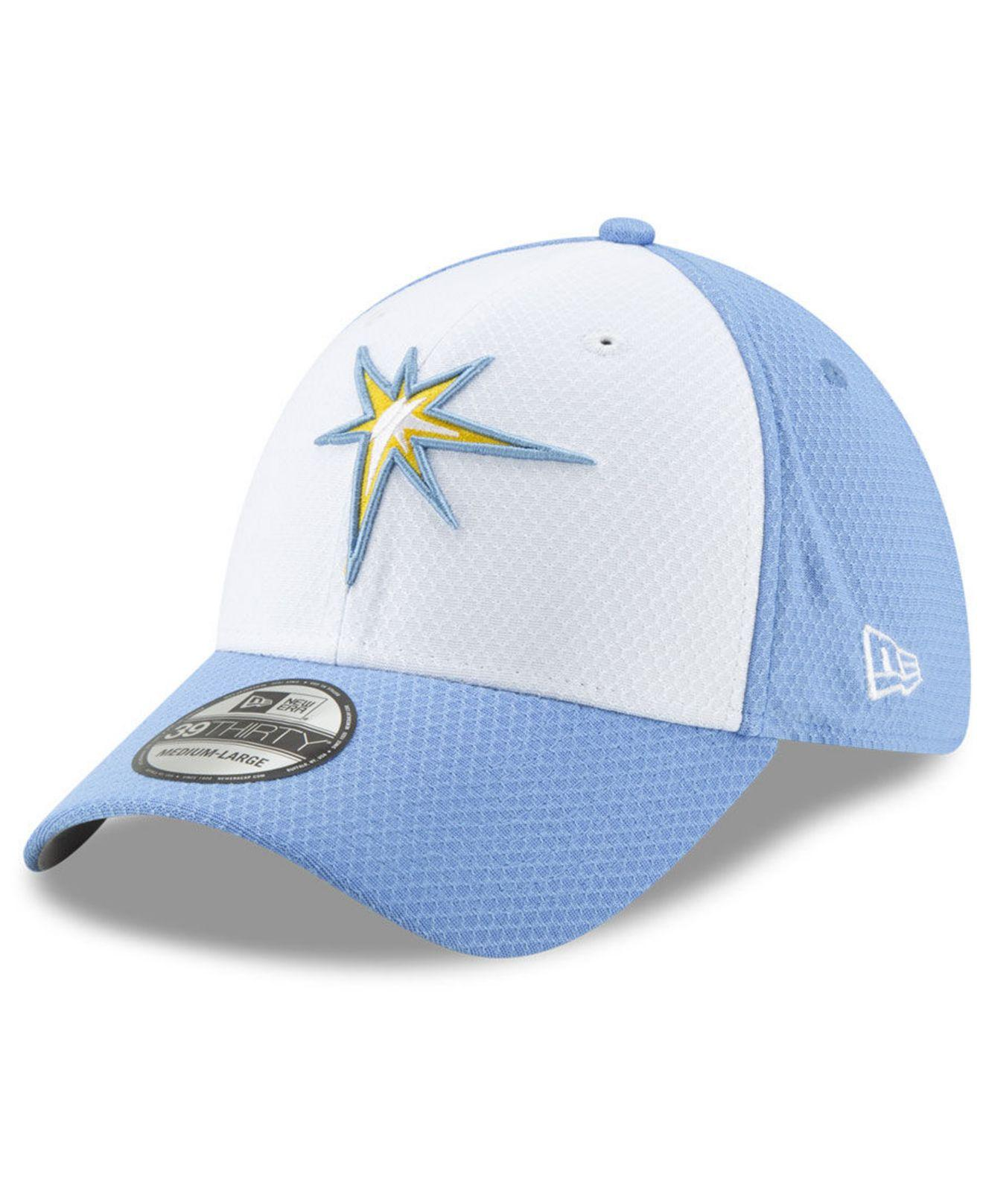 hot sale online 81b8b 59f49 KTZ. Men s Blue Tampa Bay Rays Batting Practice 39thirty Cap