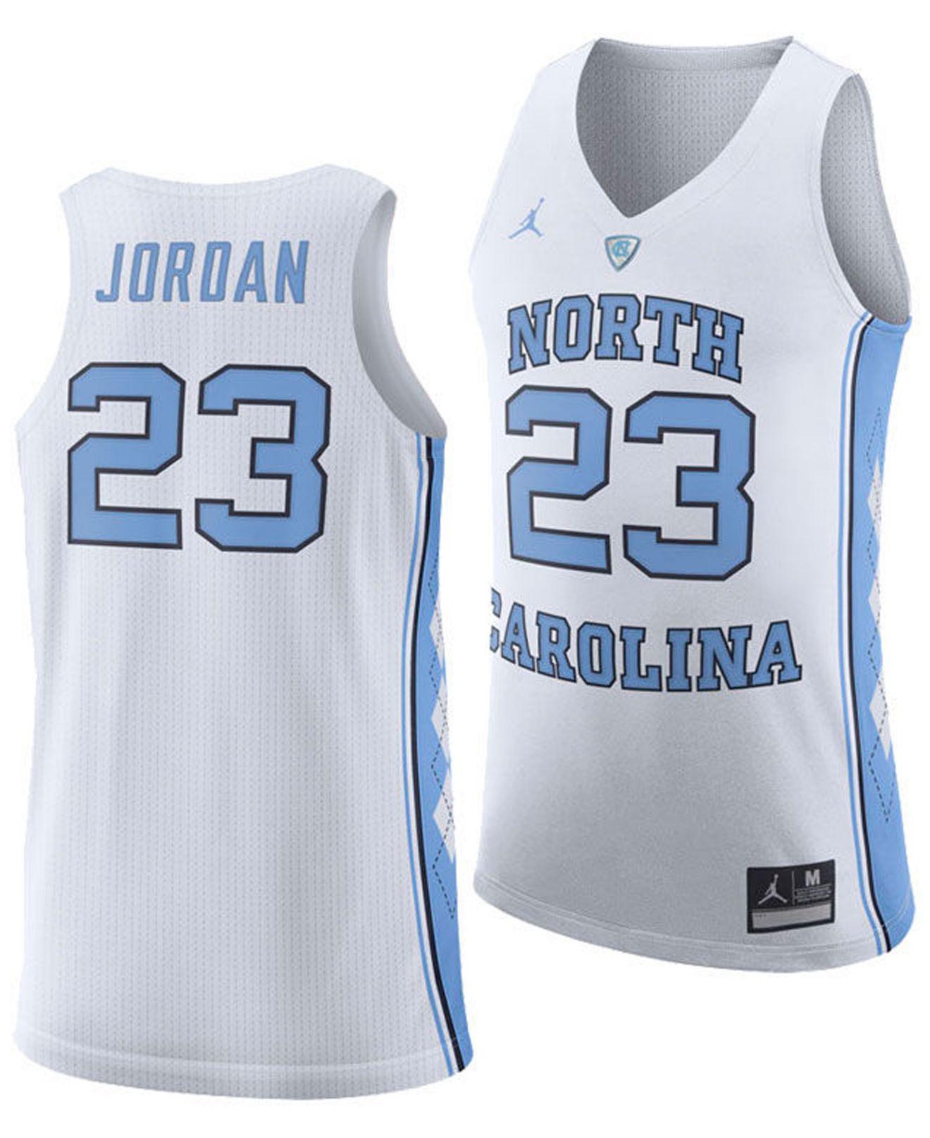 77440c77a07 Nike. Men's White Michael Jordan North Carolina Tar Heels Authentic  Basketball Jersey