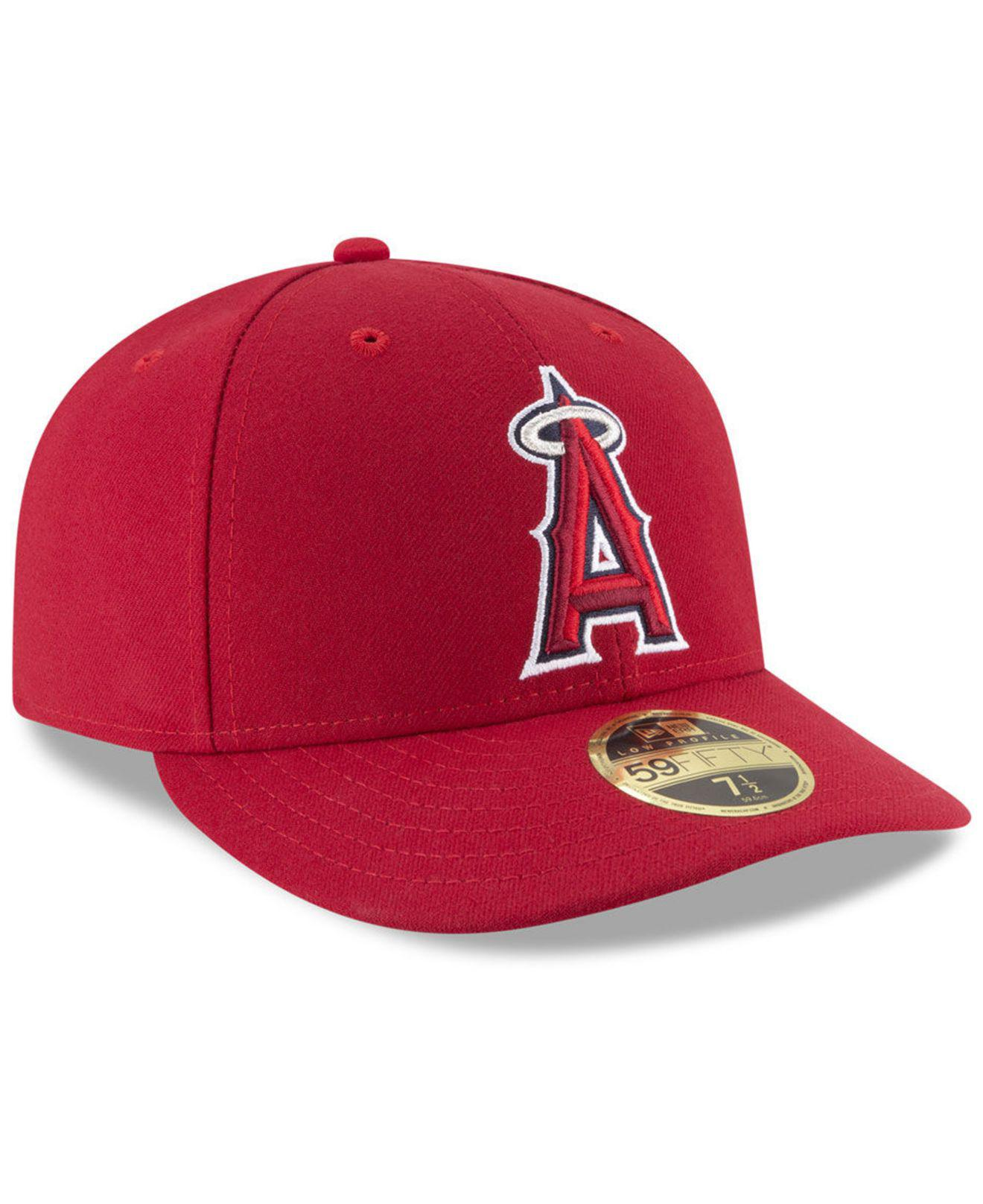 best website eeb58 9fcf6 Lyst - KTZ Los Angeles Angels Low Profile Ac Performance 59fifty Fitted Cap  in Red for Men - Save 5%