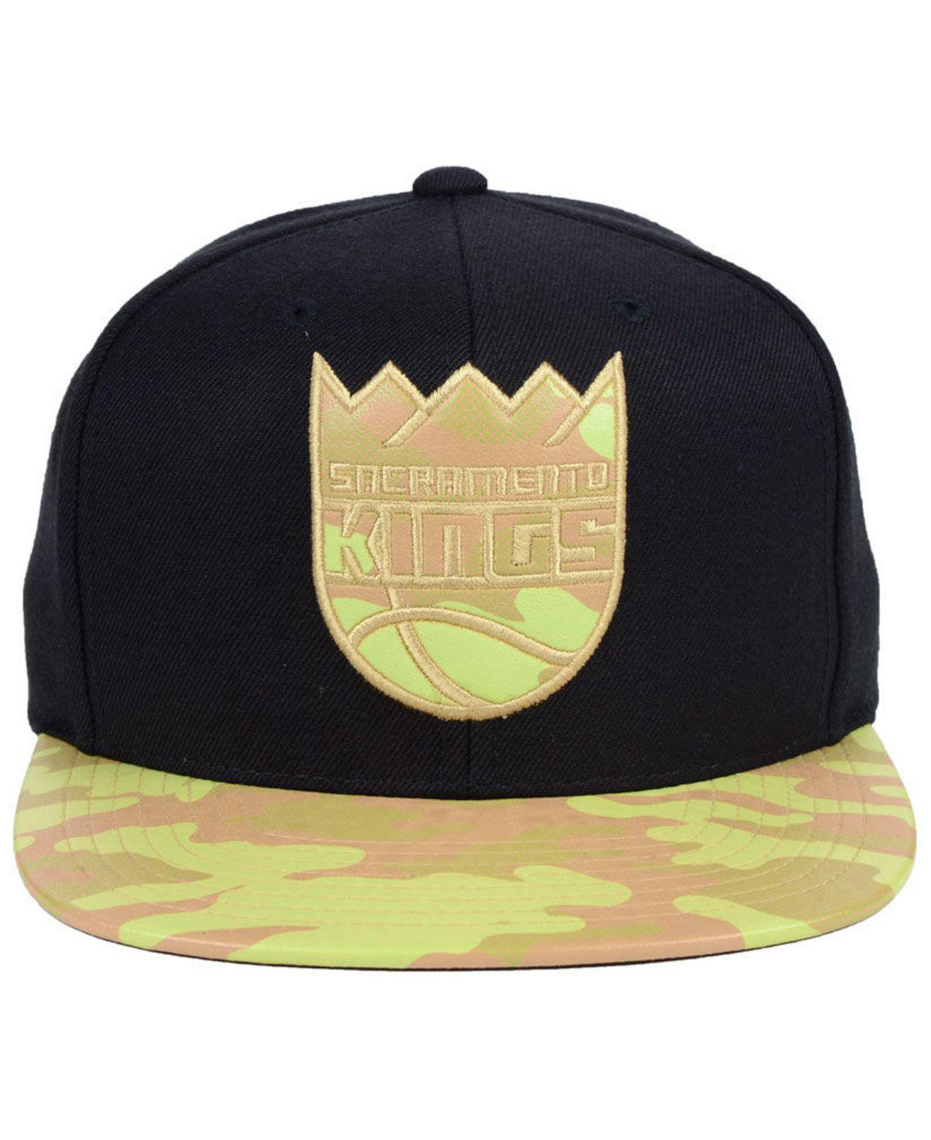 new style dbf49 36588 ... netherlands lyst mitchell ness sacramento kings natural camo snapback  cap in black for men 93ff4 3e5f7