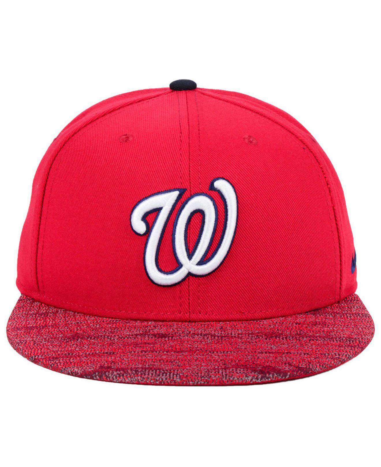 4b2eb9d4876 shopping lyst nike washington nationals reverse new day snapback cap in red  for men 6e5b4 18bd1