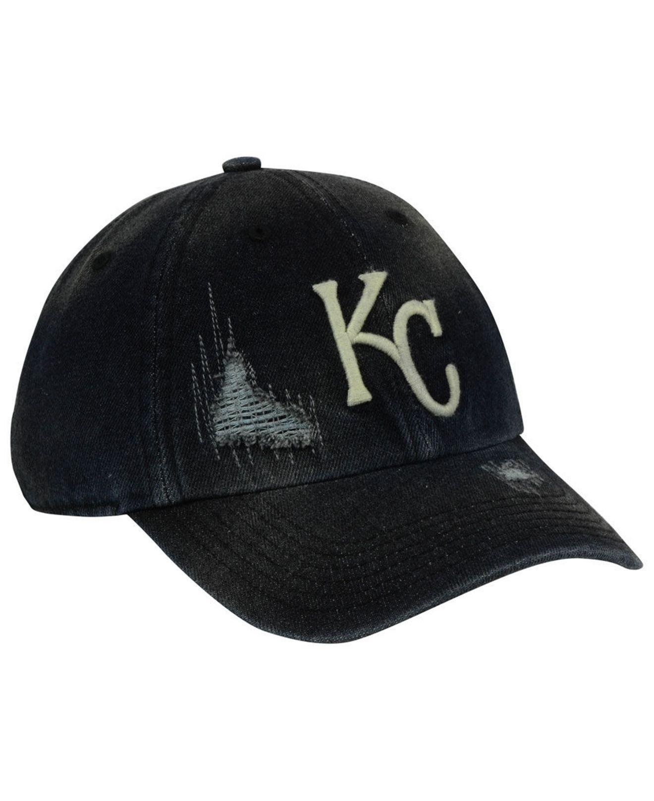 lowest price 40f9c 77e26 Lyst - 47 Brand Kansas City Royals Dark Horse Clean Up Cap in Black ...