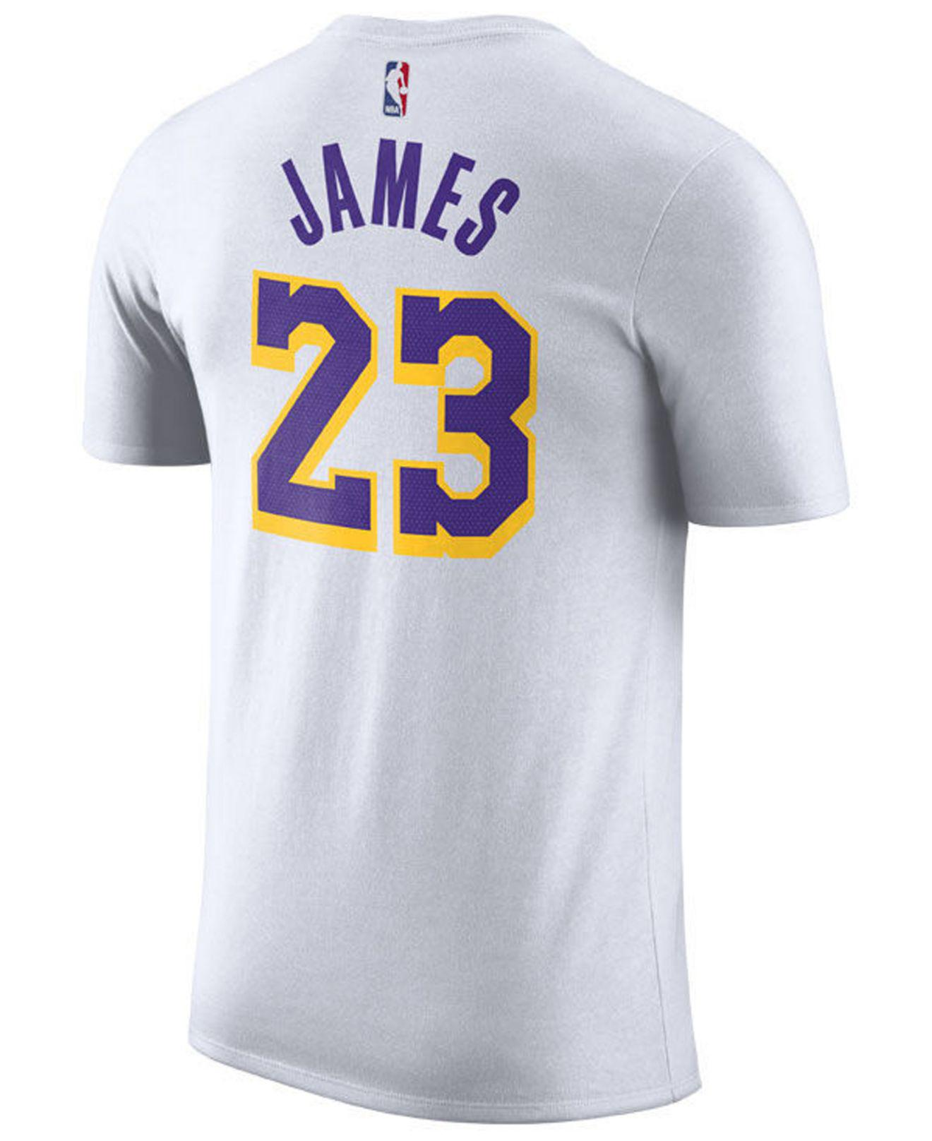 e5b2b1e11 Lyst - Nike Lebron James Los Angeles Lakers Icon Player T-shirt in White  for Men