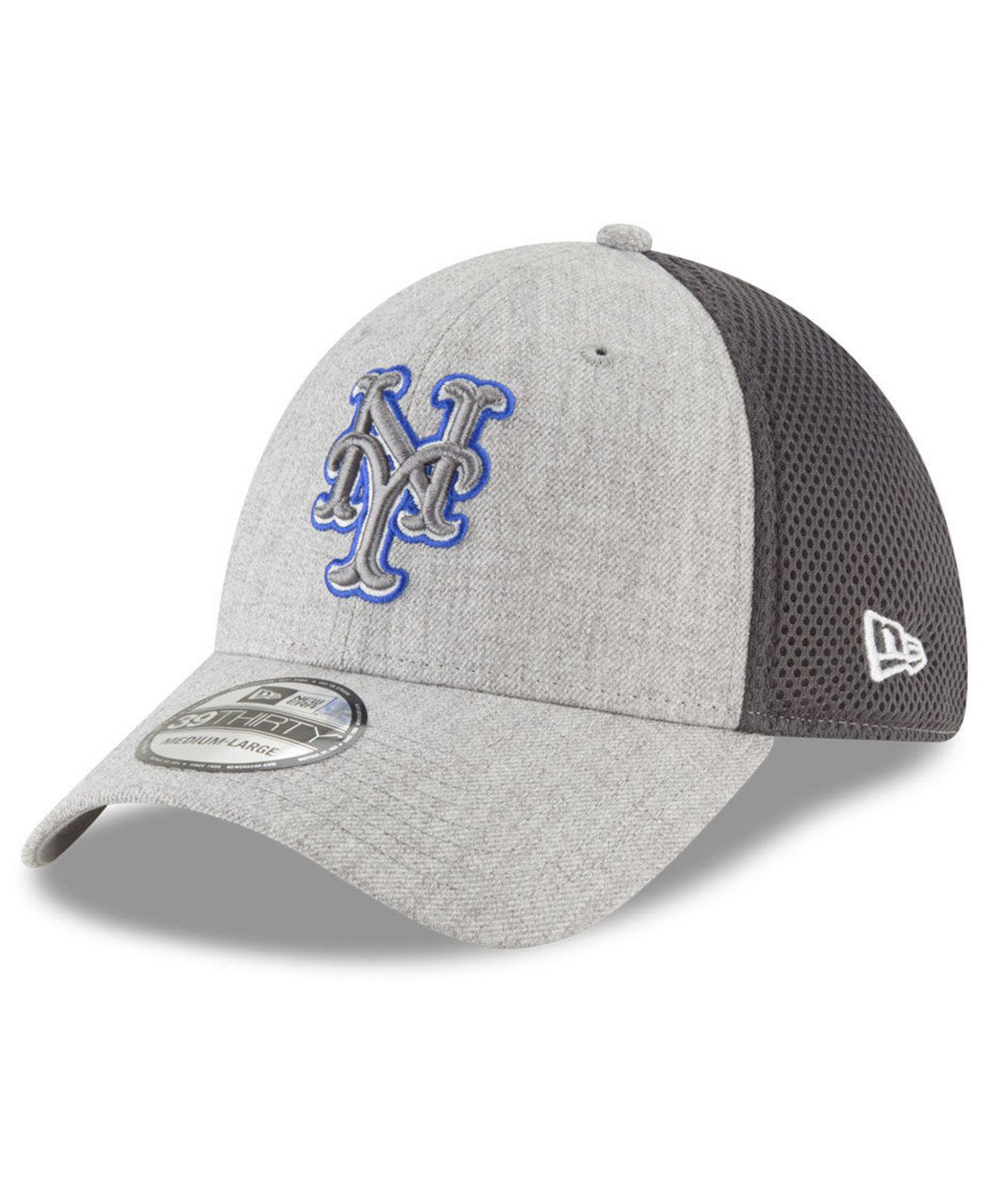 uk availability d4d3e 52103 coupon code for new era hats 5b870 6985e  canada lyst ktz new york mets  heather pop neo 39thirty cap in gray for men 108dc