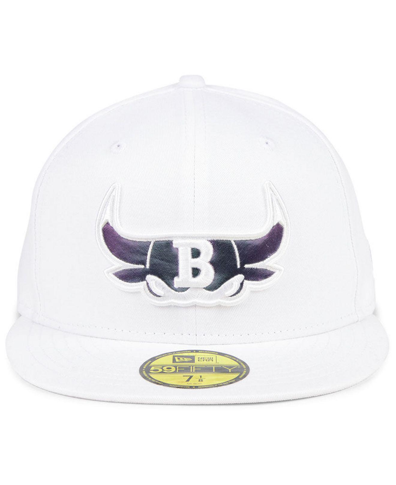8e88bf13cb1 ... hot lyst ktz chicago bulls iridescent combo 59fifty fitted cap in white  for men 5fd43 b7c31