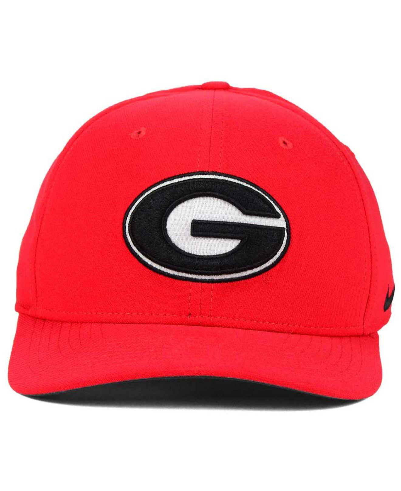 13ecf4e6 Lyst - Nike Georgia Bulldogs Classic Swoosh Cap in Red for Men