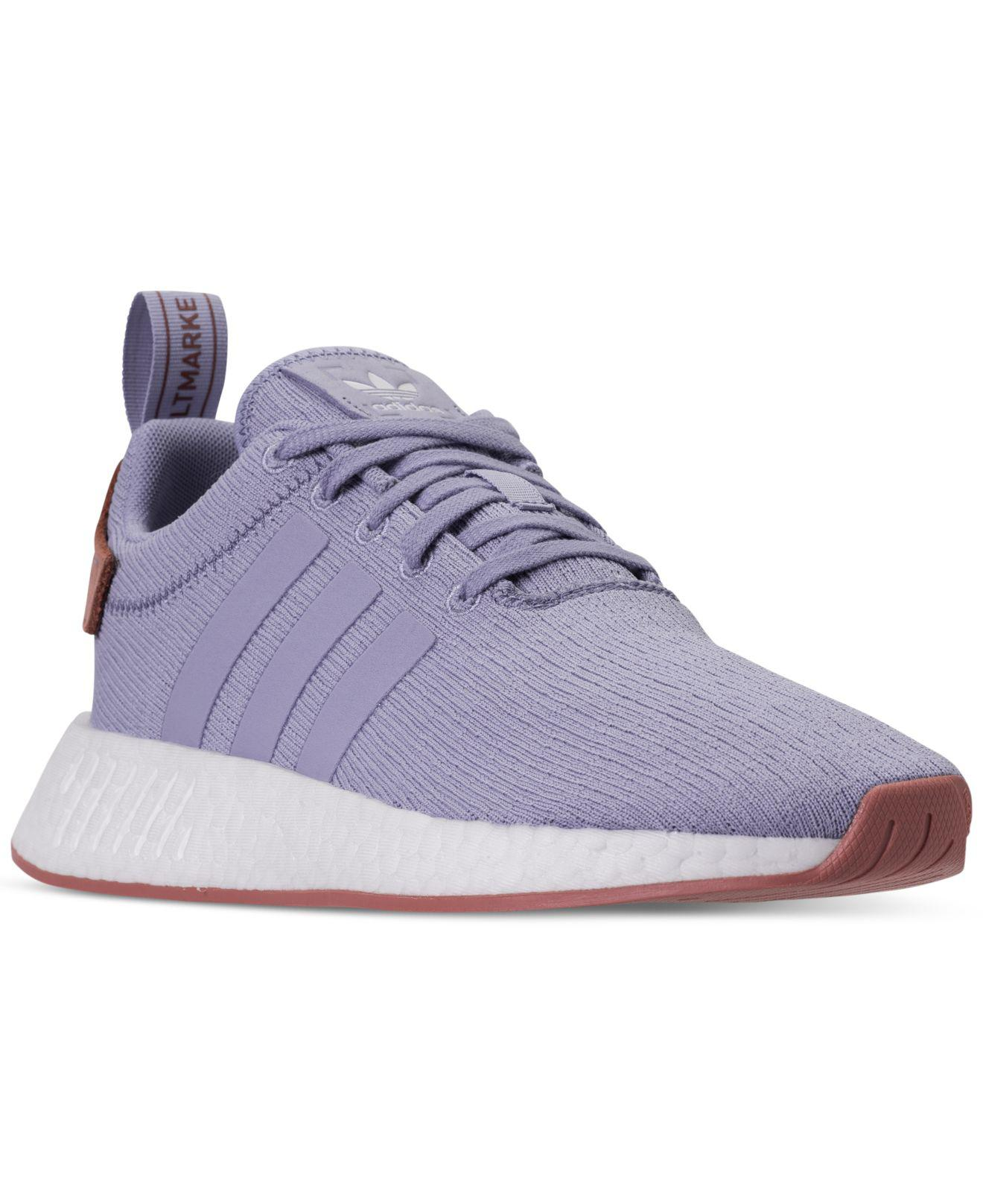 da868458ba6ae Lyst - adidas Women s Nmd R2 Casual Sneakers From Finish Line in Blue