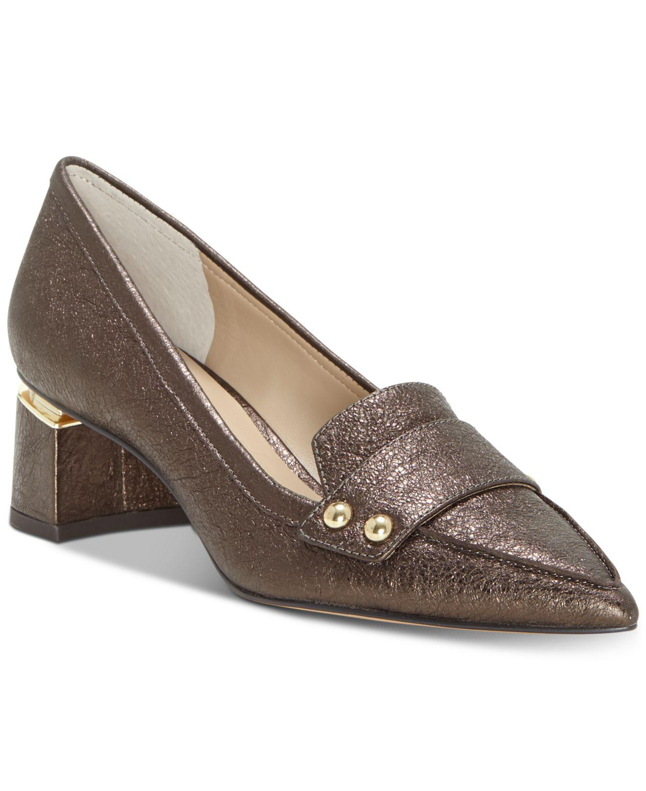 984481e8031 Lyst - Enzo Angiolini Dainey Dress Loafers in Metallic