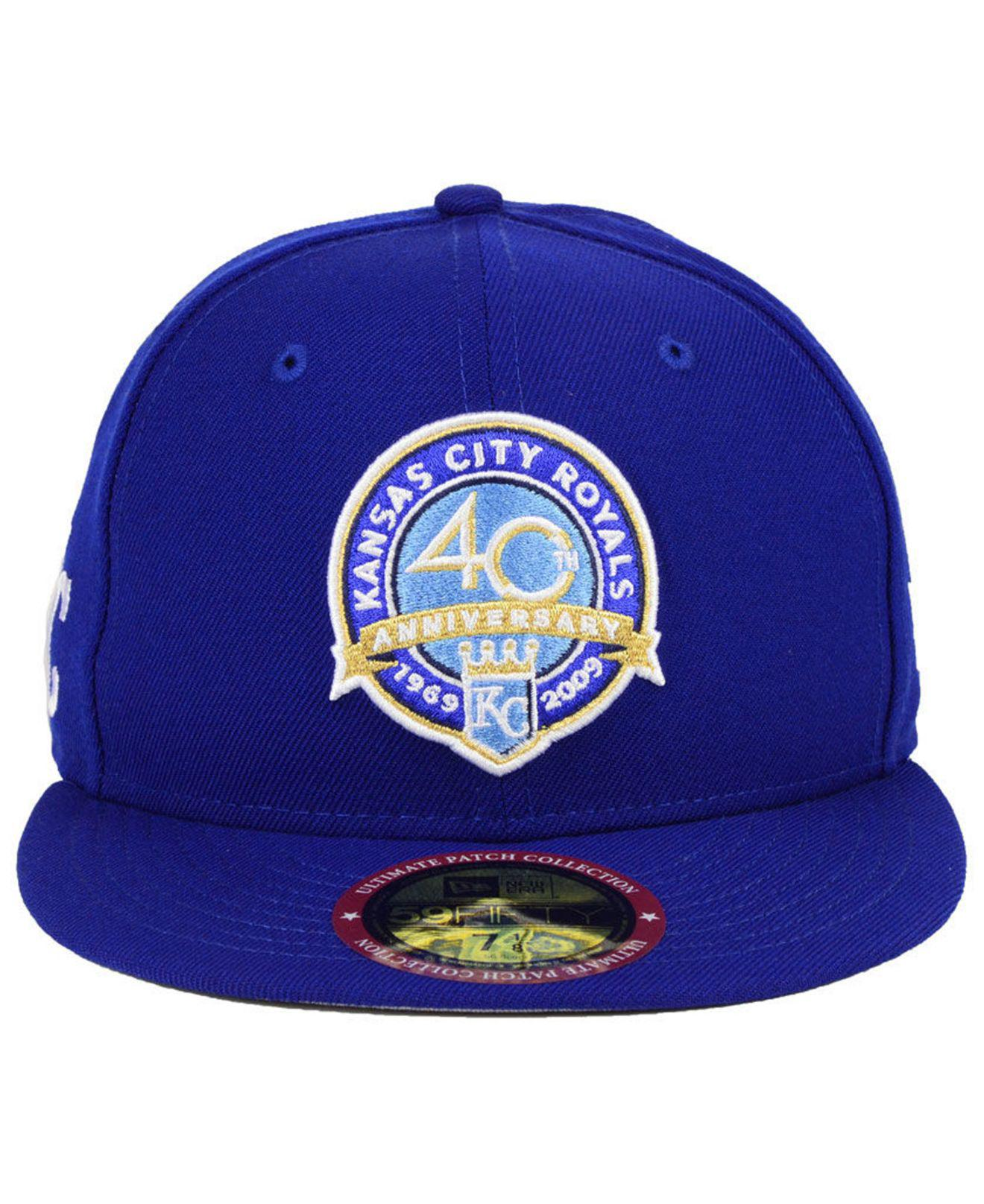 finest selection c5fe6 522b0 Lyst - KTZ Kansas City Royals Ultimate Patch Collection Front 59fifty  Fitted Cap in Blue for Men