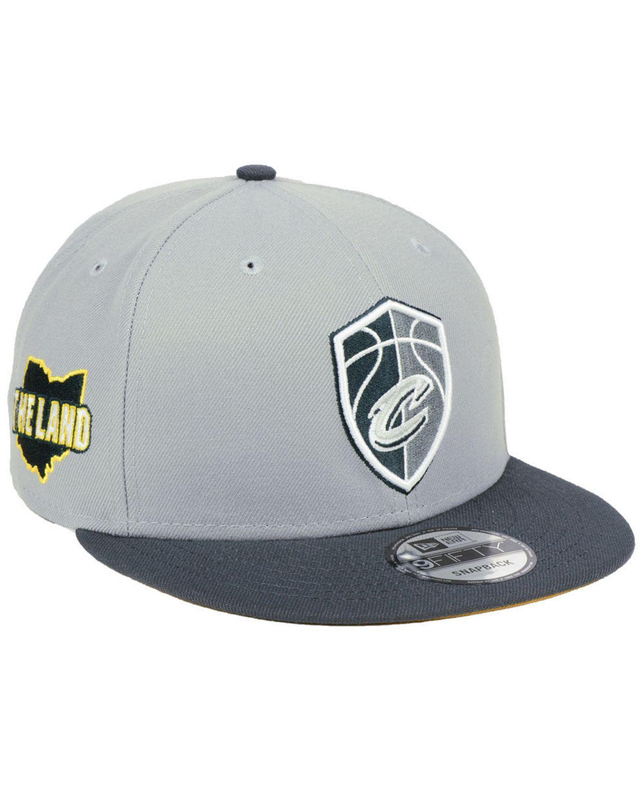 b5fd28bafbb Lyst - KTZ Cleveland Cavaliers City Series 9fifty Snapback Cap in ...