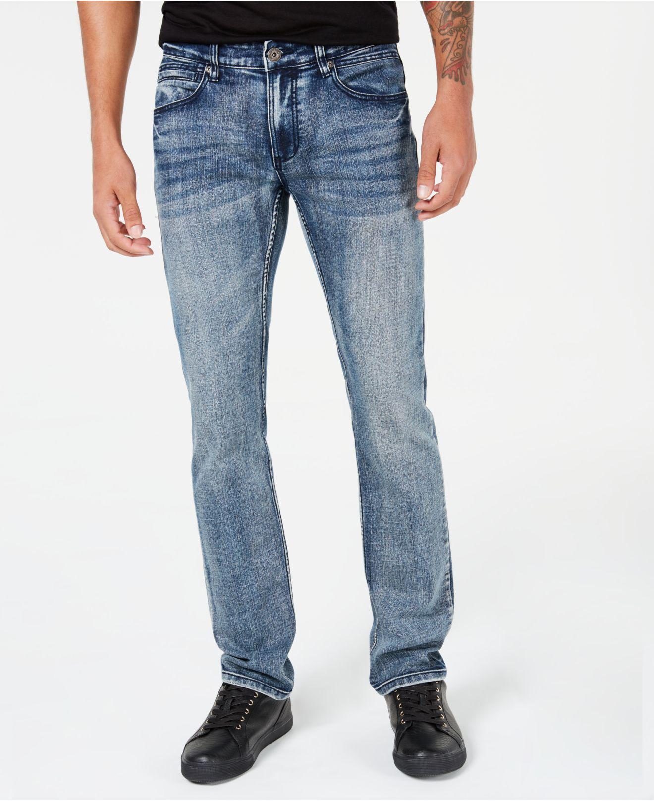 1076f5e58ea3 INC International Concepts. Men s Blue I.n.c. Stretch Slim Straight Jeans  ...
