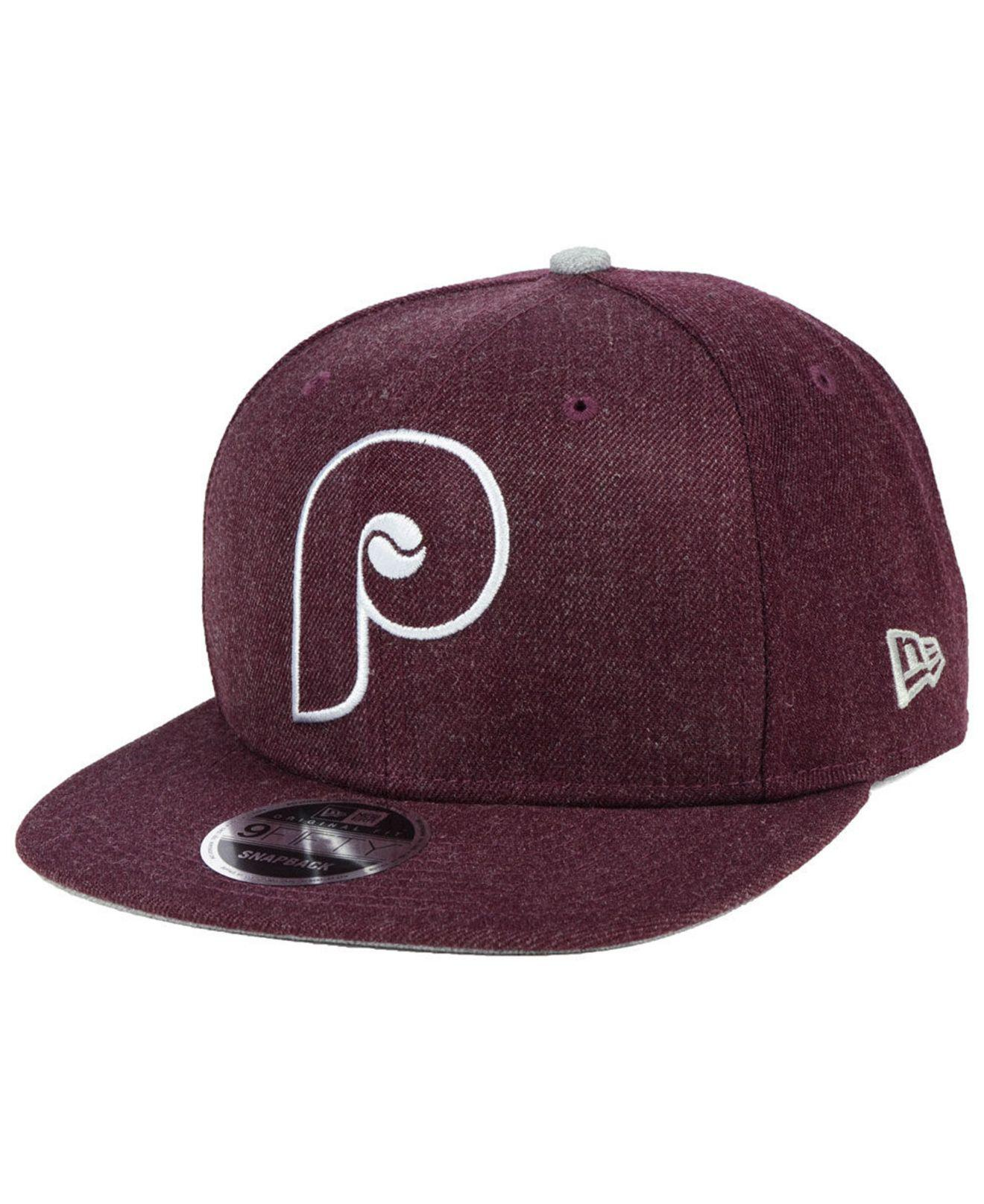 newest e3b15 d9c48 KTZ Philadelphia Phillies Heather Hype 9fifty Snapback Cap in Purple ...