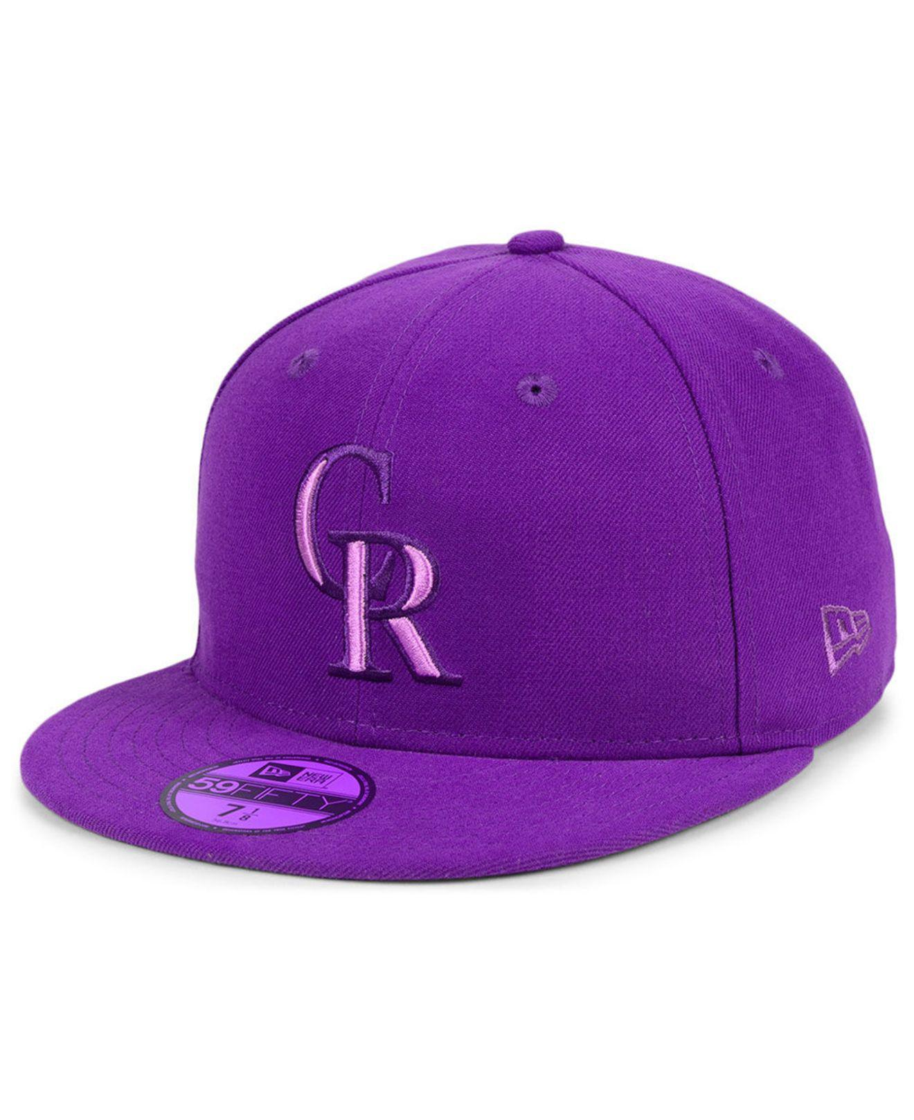 43d475ac576a8 ... low cost ktz. mens purple colorado rockies prism color pack 59fifty  fitted cap ce060 8b01e