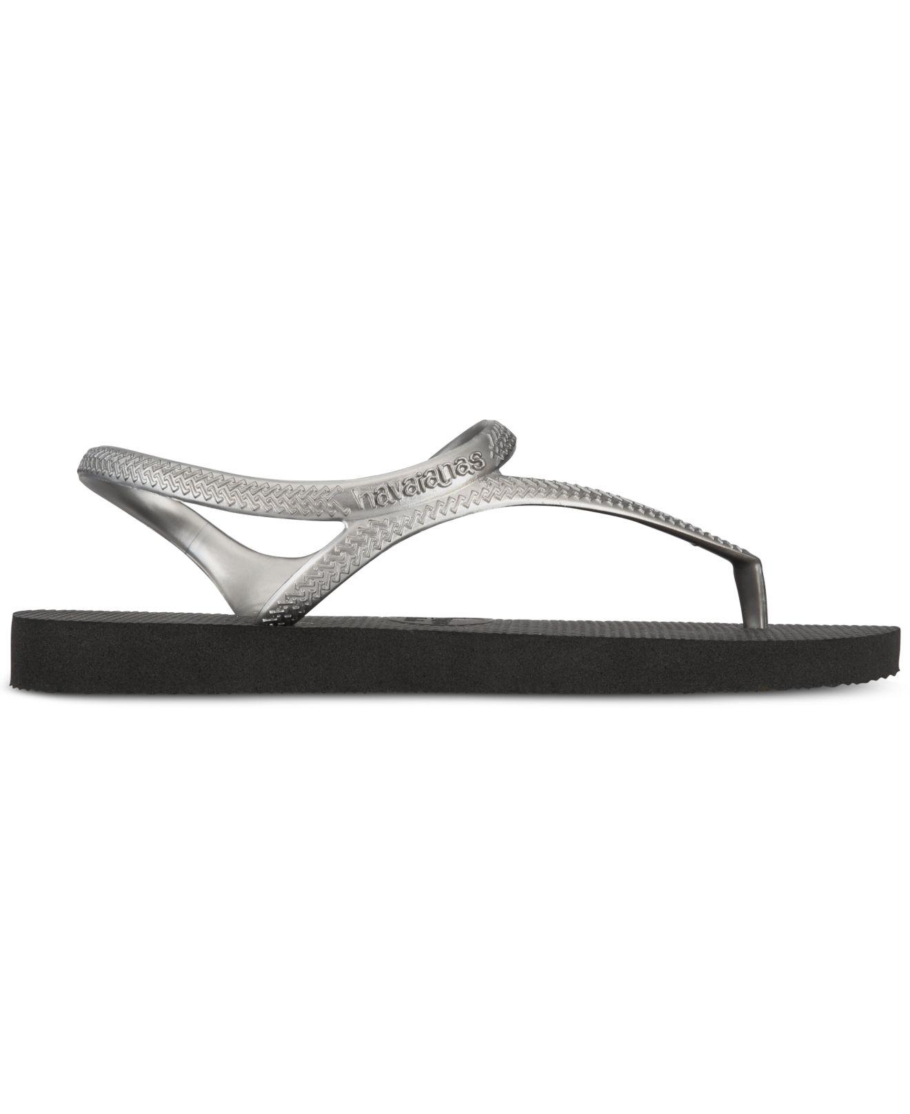 c63a1701e Lyst - Havaianas H.fl Urban Black-silver Flip Flops in Black - Save 14%
