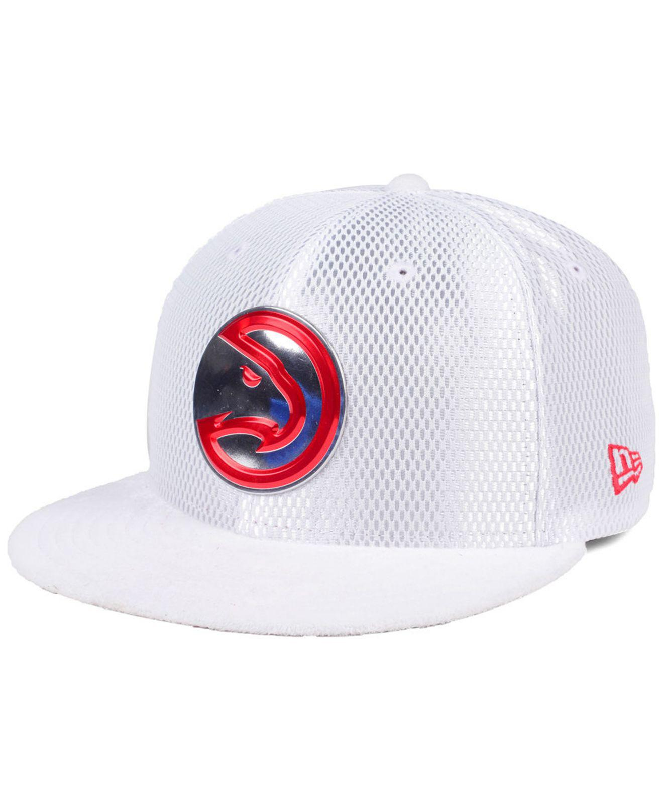 first rate f1ab6 3e032 KTZ - White Atlanta Hawks On-court Collection Draft 59fifty Fitted Cap for  Men -. View fullscreen
