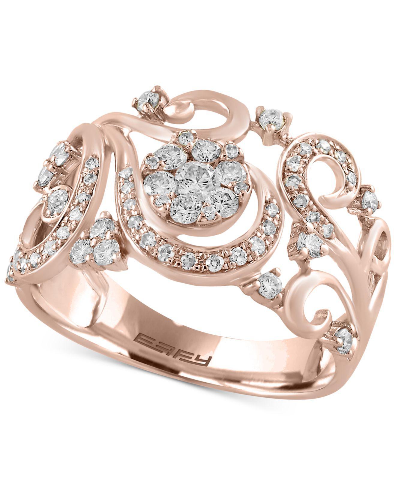 Lyst Effy Collection Diamond Multi layer Interwoven Statement Ring