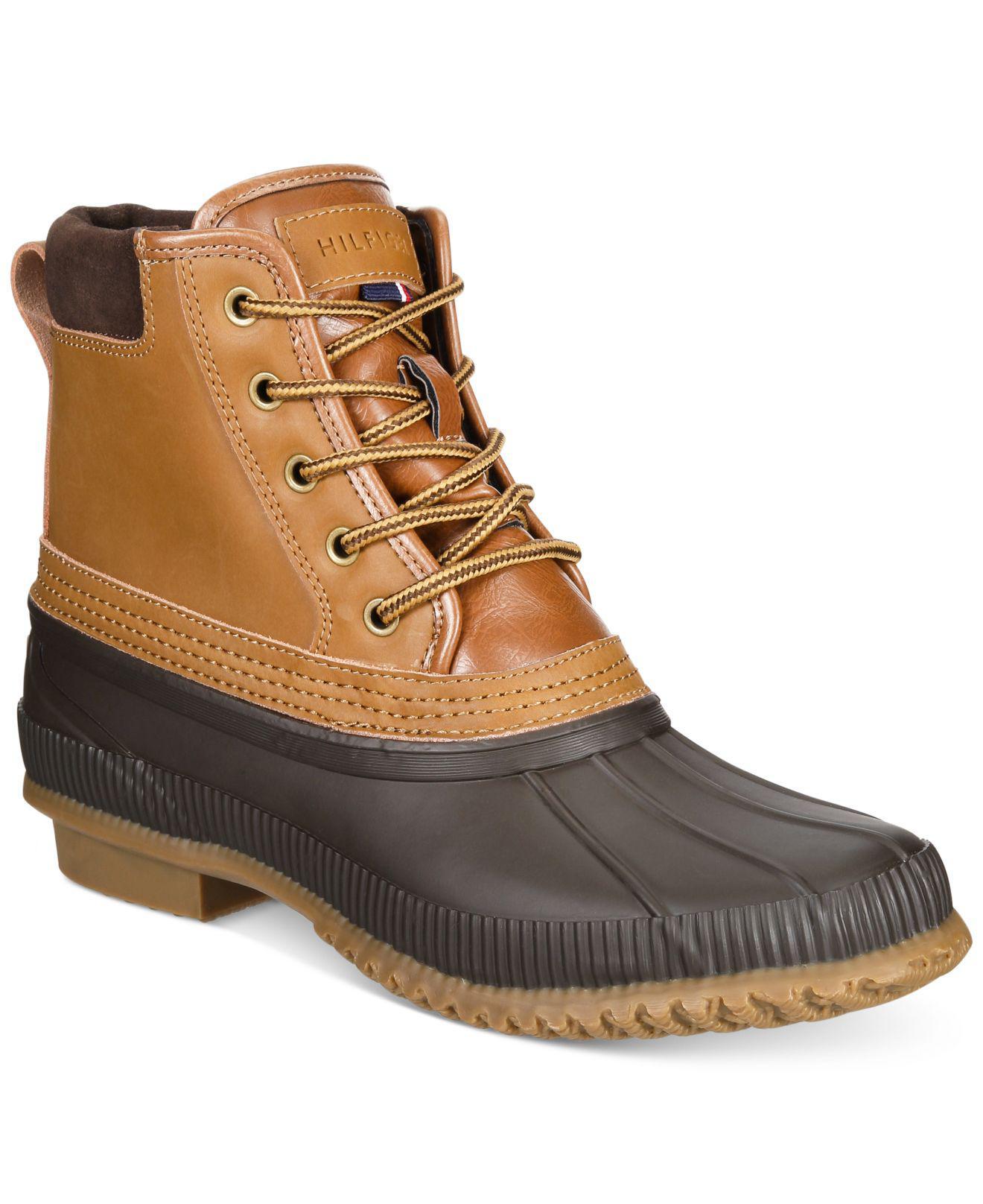 39734219d1a5a1 Lyst - Tommy Hilfiger Men s Casey Waterproof Duck Boots