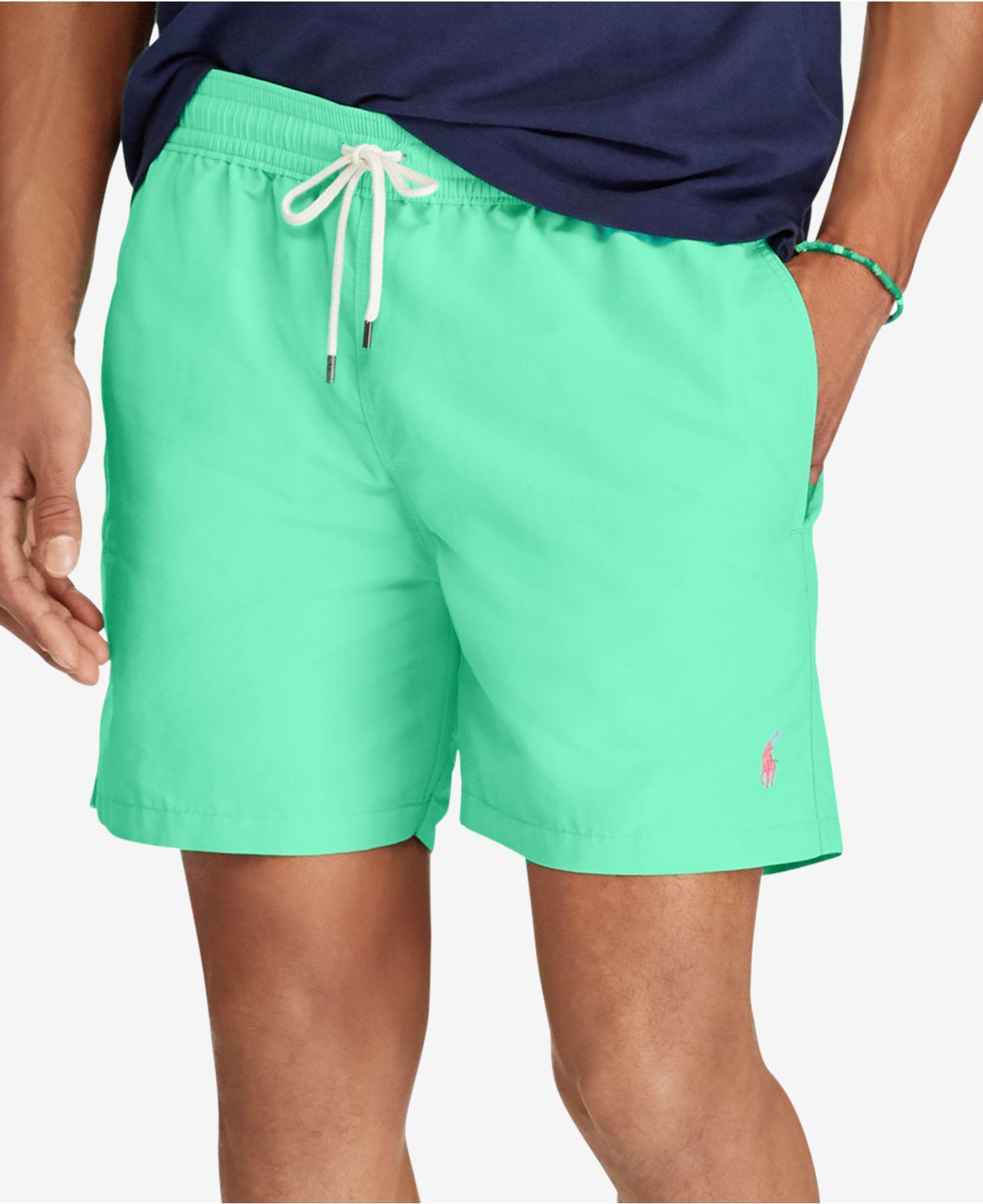 87612632c2 Polo Ralph Lauren Mens 5 3 4 Traveler Swim Trunks