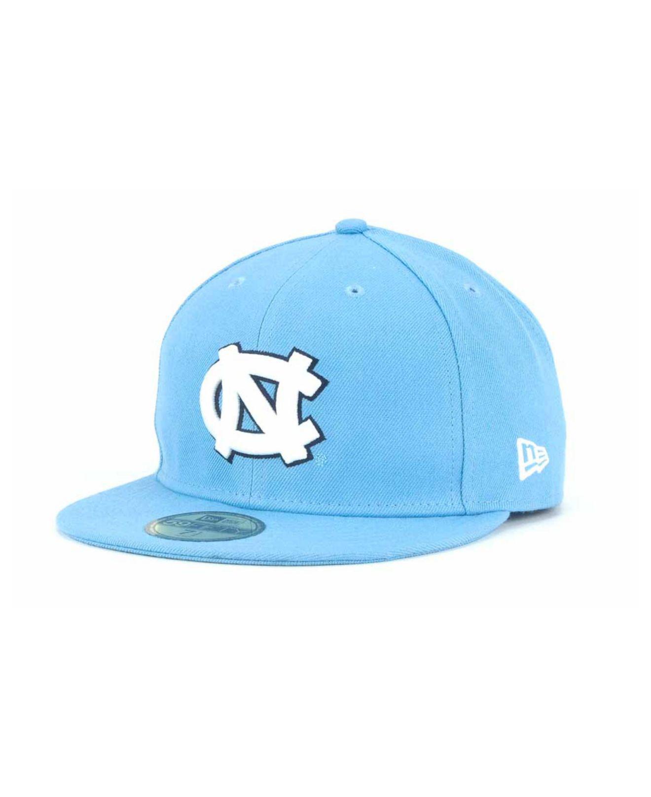 75e710fb55c Lyst - KTZ North Carolina Tar Heels 59fifty Cap in Blue for Men