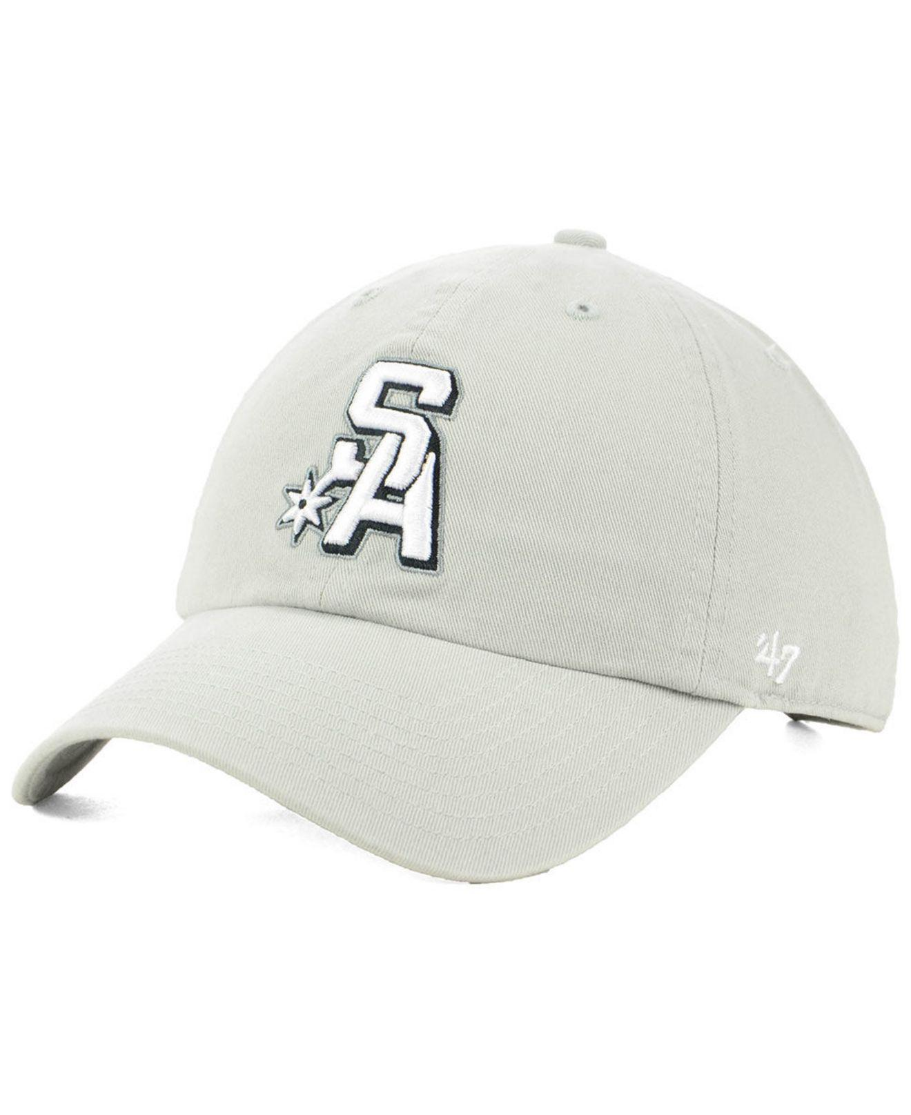 025c40298 Lyst - 47 Brand San Antonio Spurs Mash Up Clean Up Cap in Gray for Men