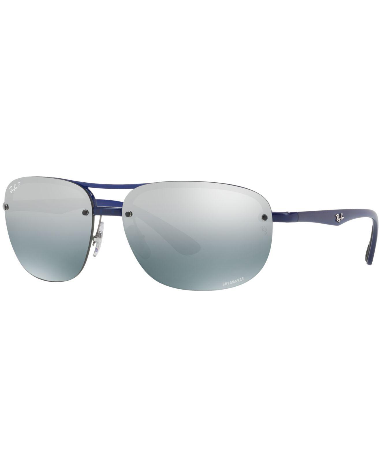 549f097c9e Ray-Ban. Men s Blue Polarized Chromance Collection Sunglasses ...