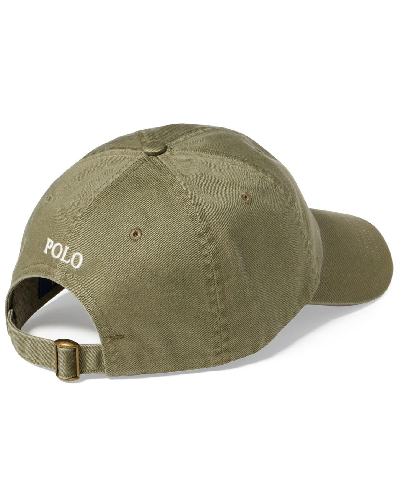 Lyst - Polo Ralph Lauren Men s Classic Cotton Chino Sports Cap in ... c9c993ad5015