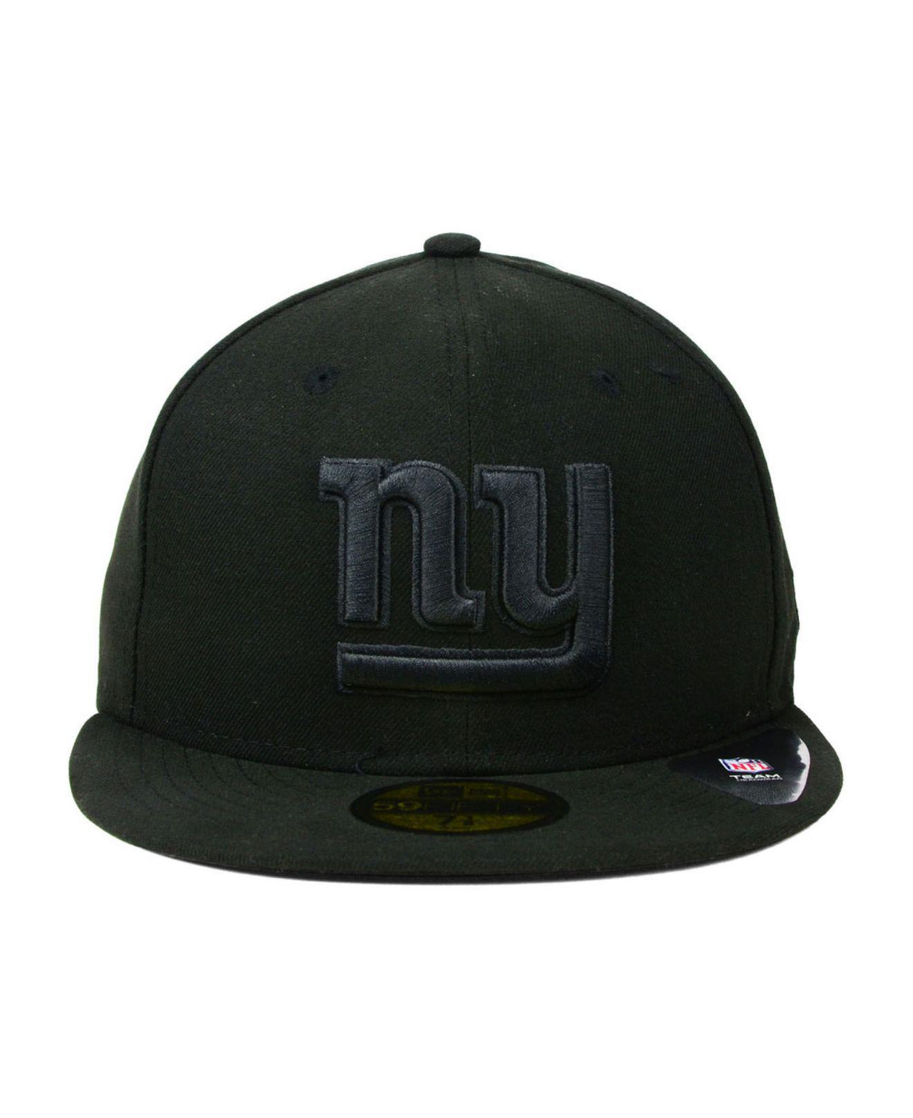 Lyst - Ktz New York Giants Black On Black 59fifty Cap in Black for Men cbb26969f