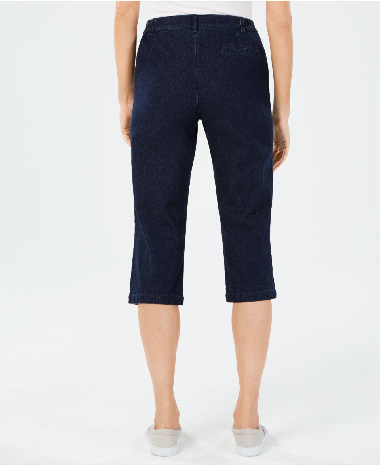 7937cf86383 Lyst - Karen Scott Petite Denim Capri Pants