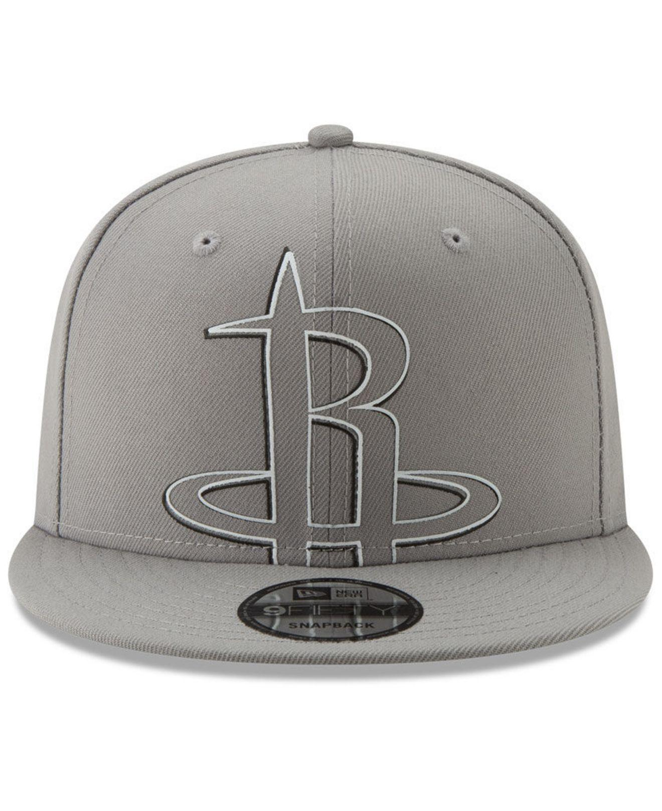 big sale 2fb35 e9a85 Lyst - KTZ Houston Rockets Light It Up Gray 9fifty Snapback Cap in Gray for  Men