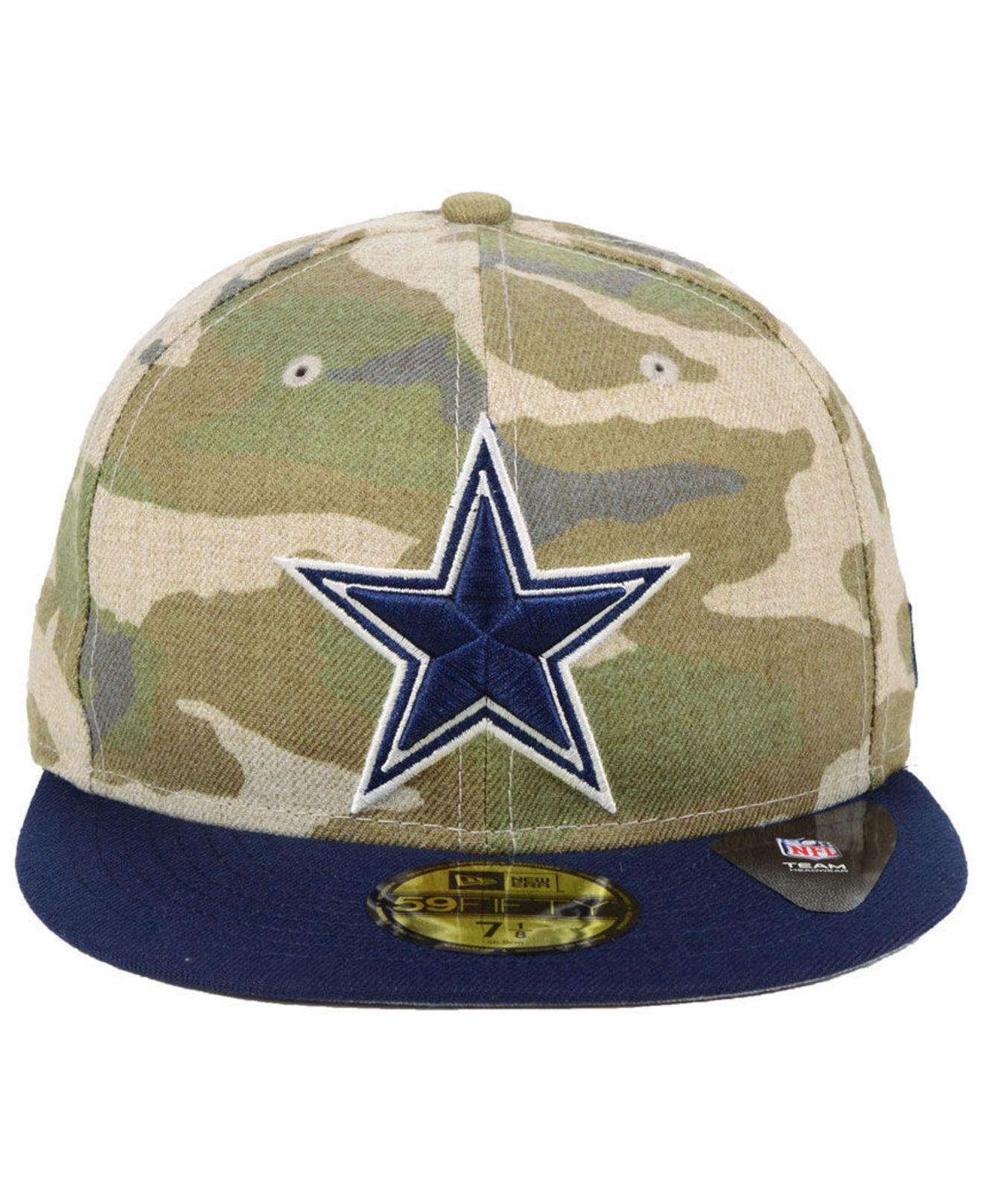 c69ef2d80f0f3 Lyst - KTZ Dallas Cowboys Vintage Camo 59fifty Fitted Cap in Green for Men